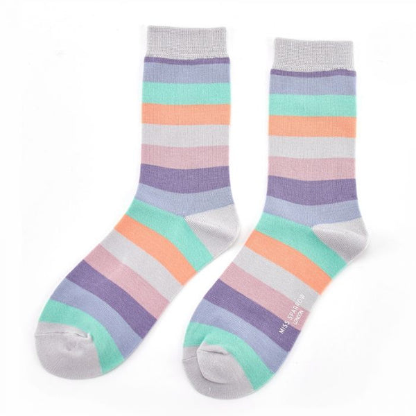 Miss sparrow Thick Stripes Socks Cool
