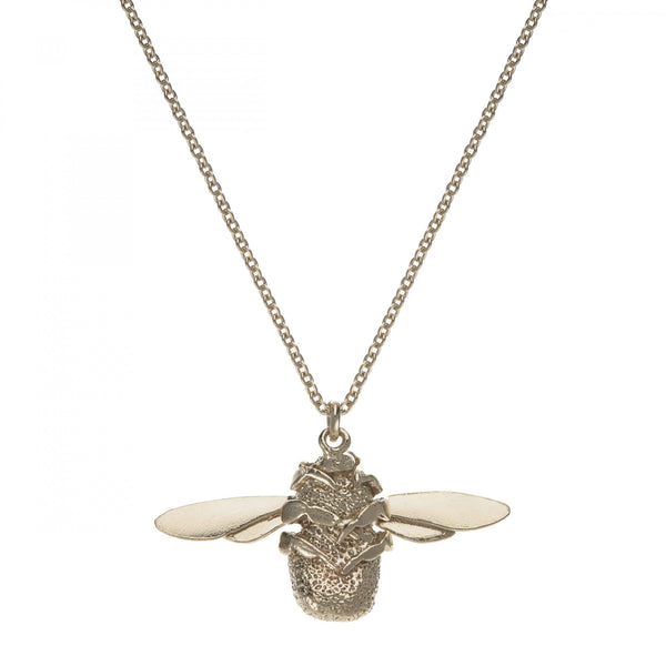 Alex Monroe Bumblebee Necklace - Large (Silver)