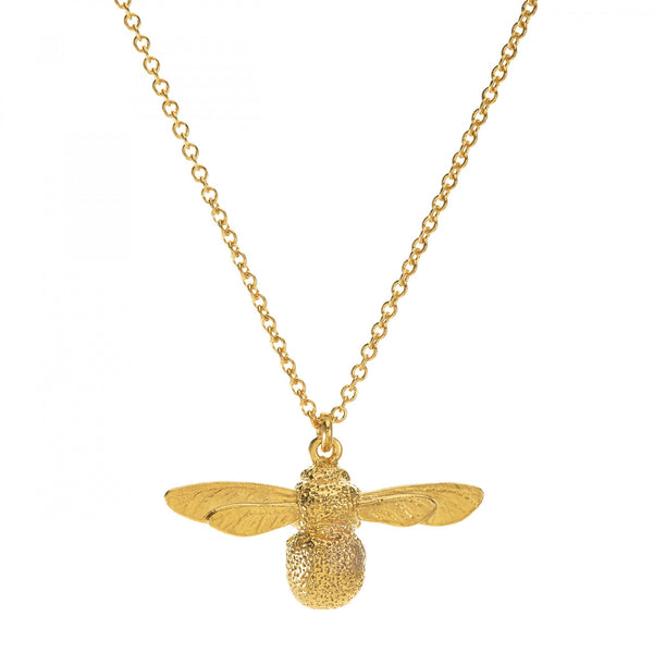 Alex Monroe Gold Bumblebee Necklace - Small (Gold)