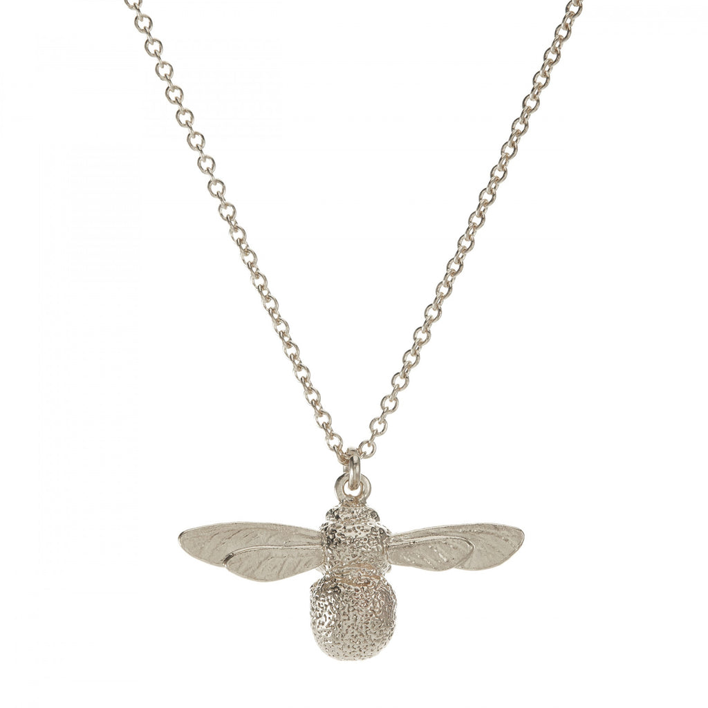 Alex Monroe Baby Bumblebee Necklace - (Silver)