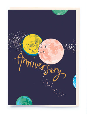 Anniversary moon card