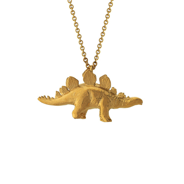 Alex Monroe Stegosaurus Gold Necklace