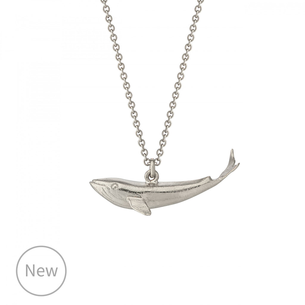 Alex Monroe Baby Blue Whale Necklace - Silver