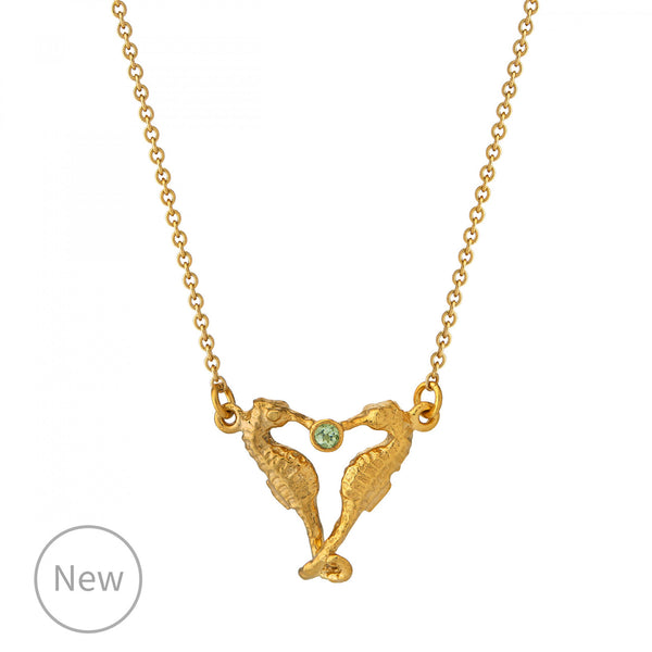 Alex Monroe Seahorse Companion Necklace - Gold