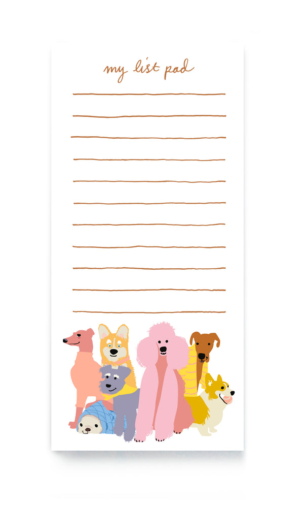LOVING DOGS MAGNETIC LIST PAD