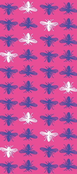 Pink insects tissue paper