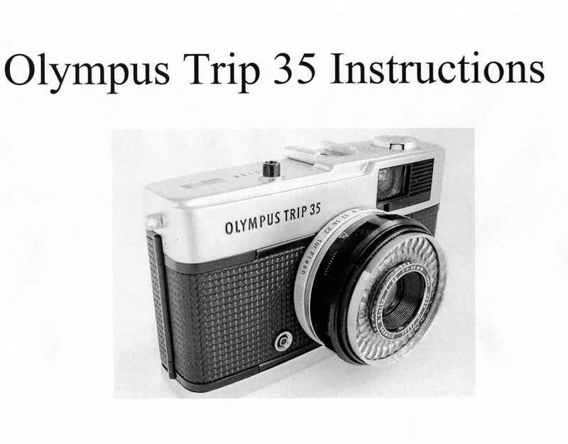 Olympus Trip 35 instructions - Trip Man version