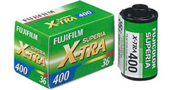 Fujicolor Superia X-TRA 400 ISO 36 exposure colour negative film