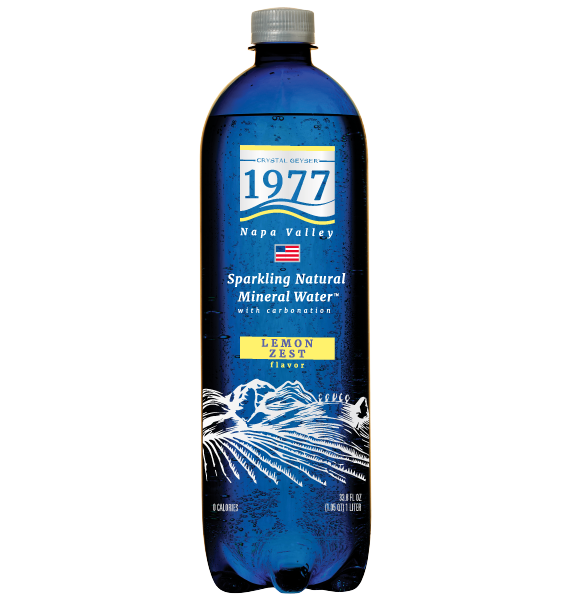 1977 Sparkling Natural Mineral Water Lemon Zest Flavor 1L PET bottle
