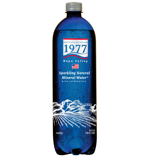1977 Sparkling Natural Mineral Water 1L PET bottle