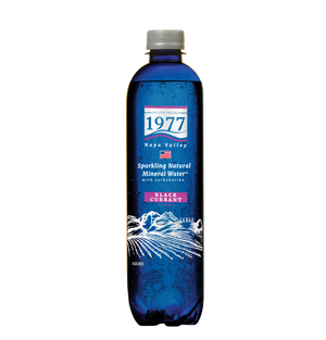 1977 Sparkling Natural Mineral Water Black Currant Flavor 500mL PET bottle