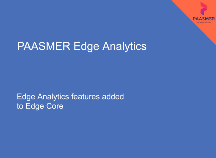 PAASMER Edge Analytics