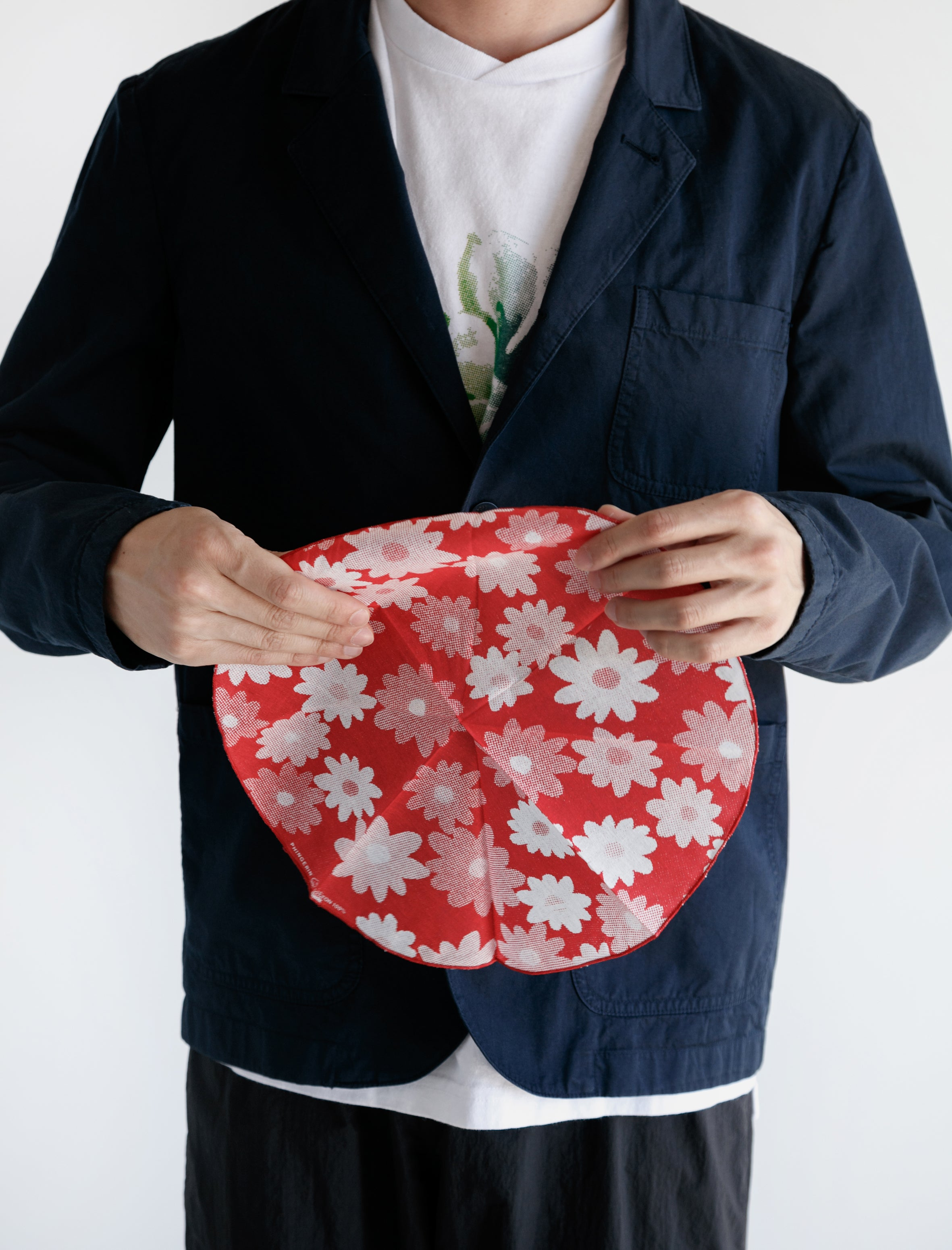 Circle Bandana Flower Red