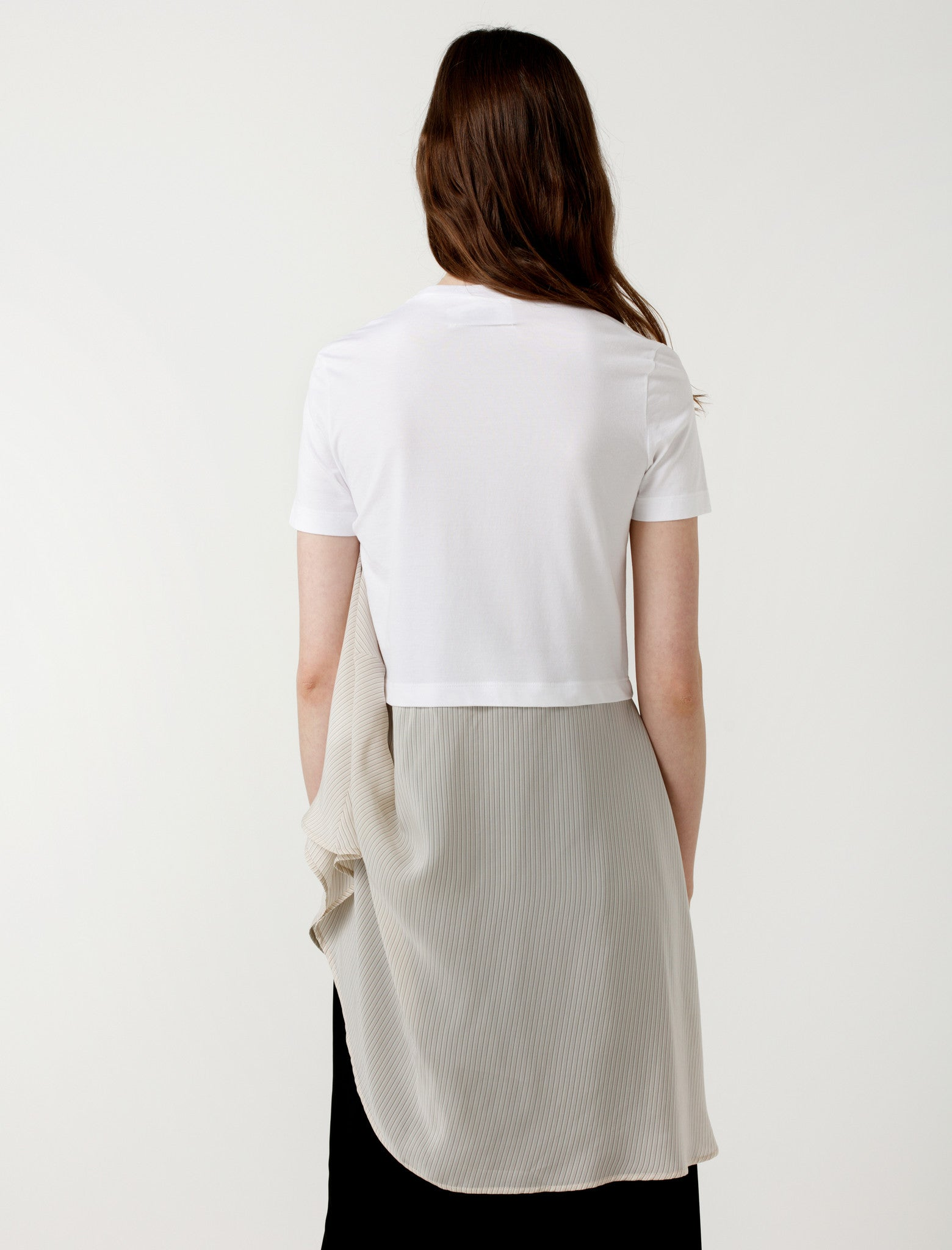 MM6 by Maison Margiela ANNIV Tee with Skirt Rubber/Olive