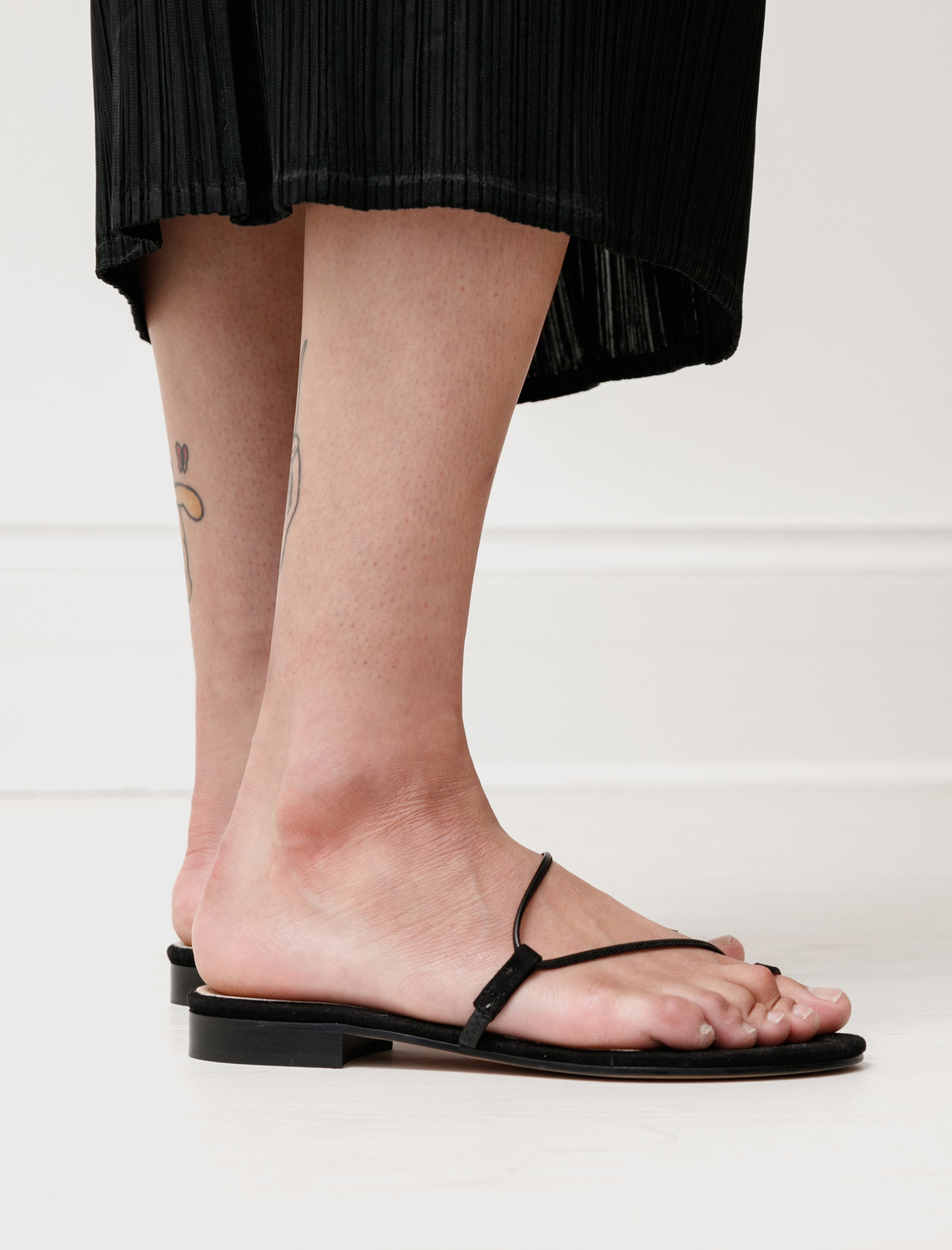 Emme Parsons Susan Slide in Black Suede