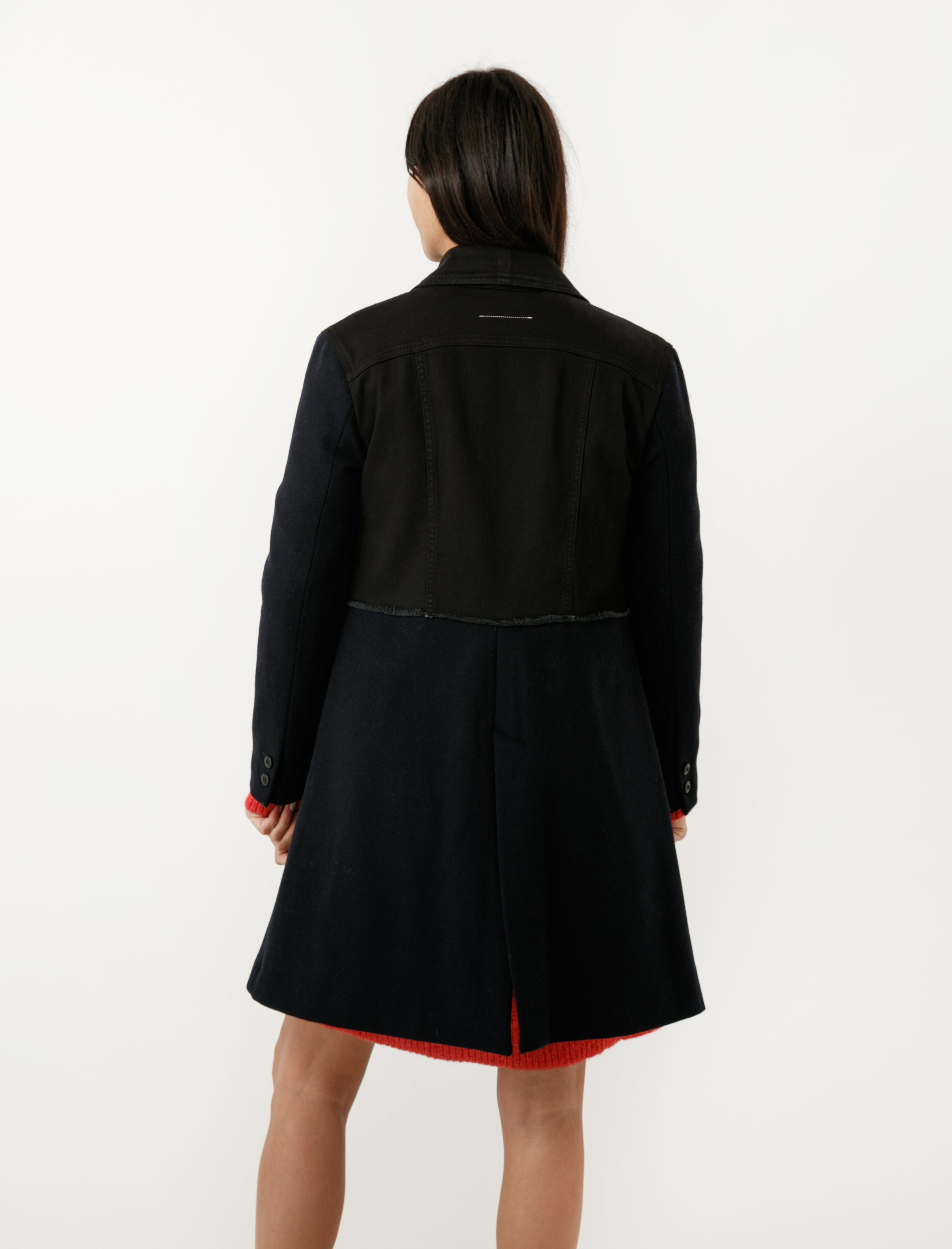 MM6 by Maison Margiela Collage Denim/Wool Coat