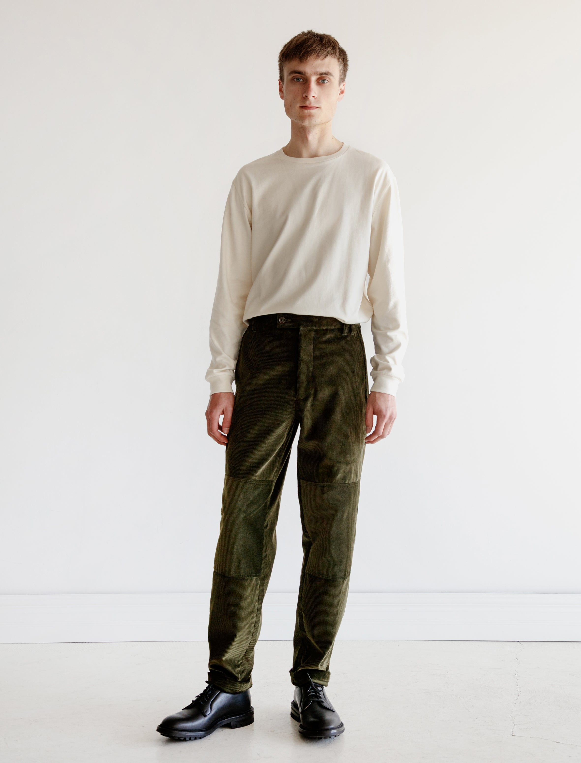 Trouser 004 Olive Corduroy
