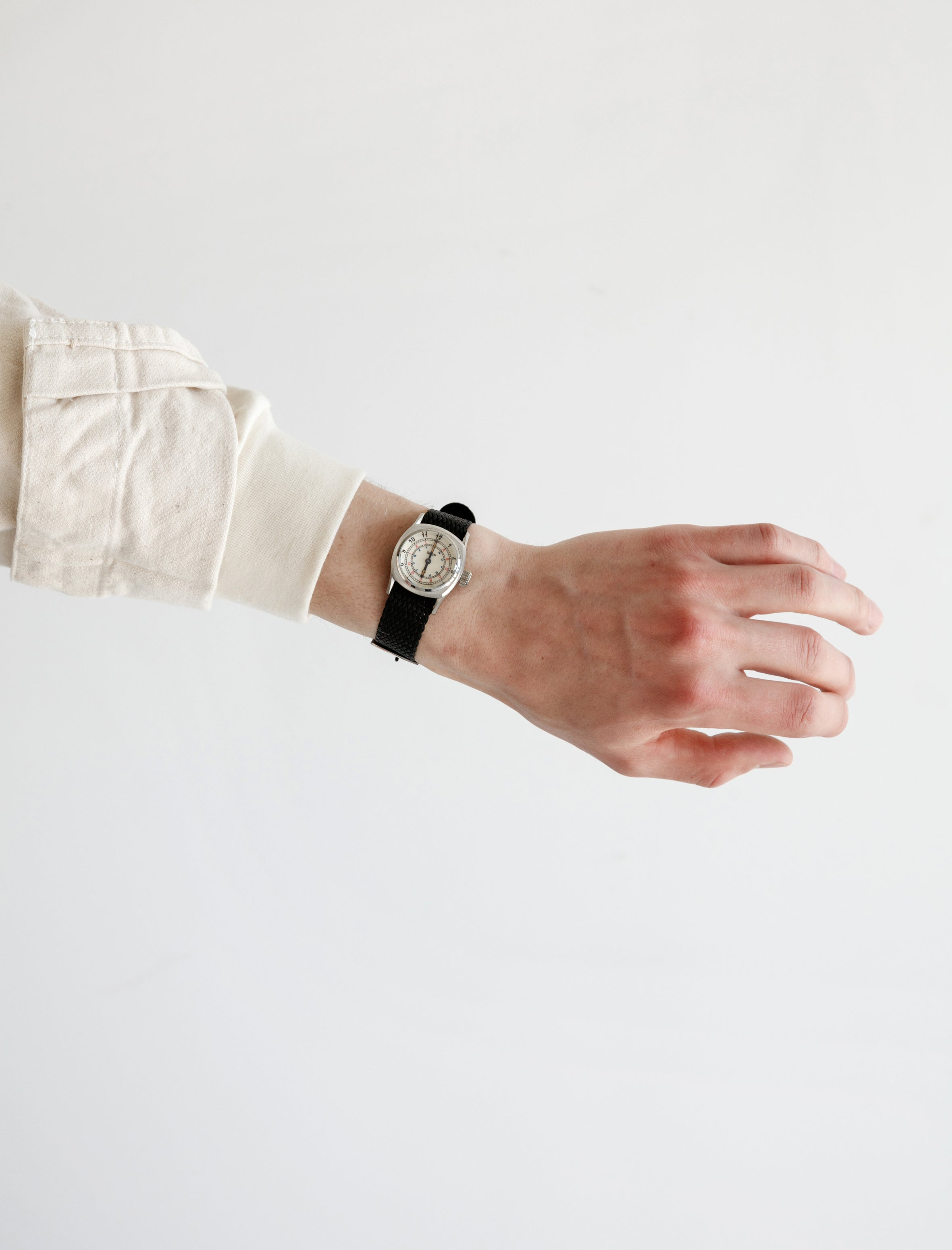 GS/TP Telegraph Wristwatch Cream