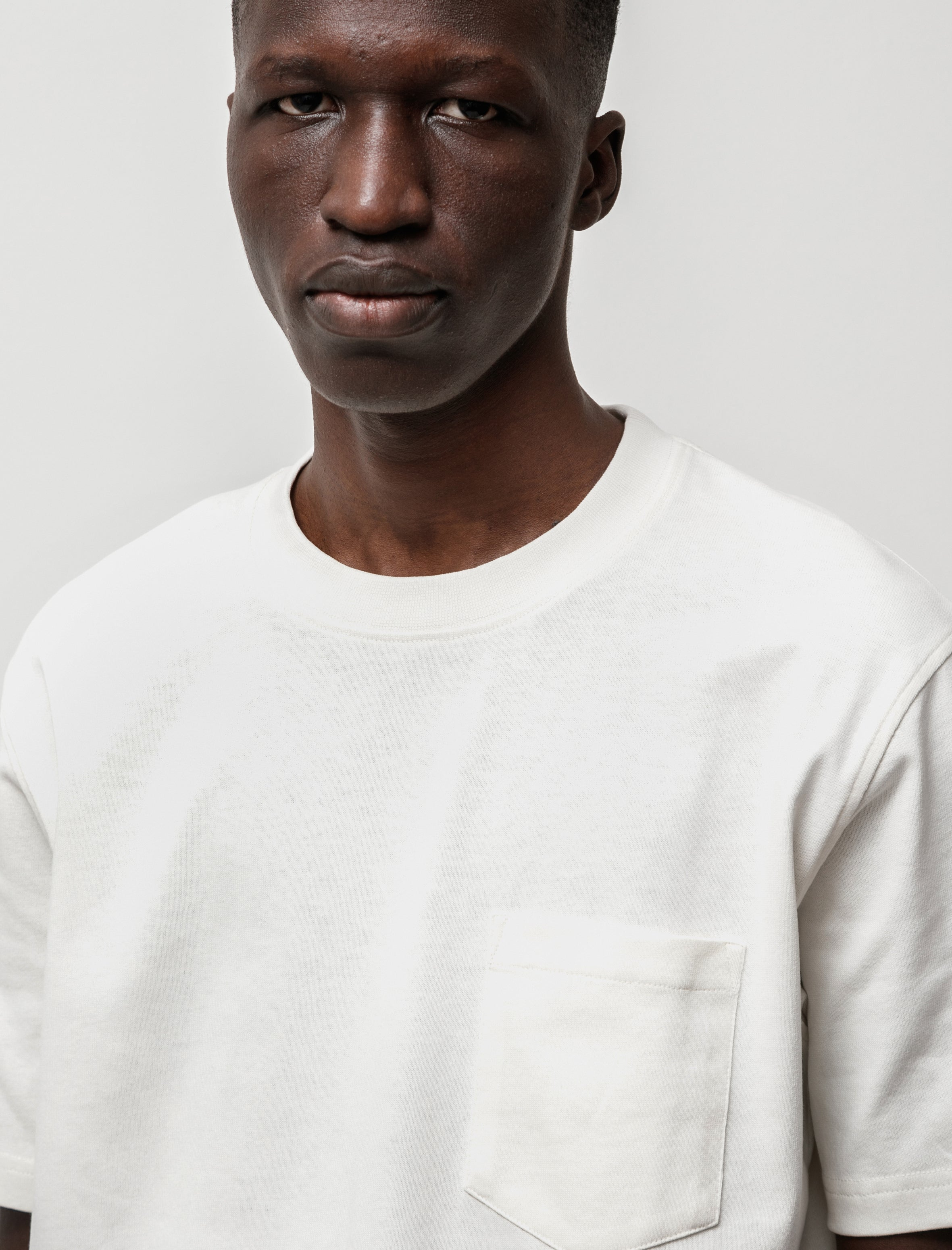 Norse Projects Johannes Pocket SS Ecru