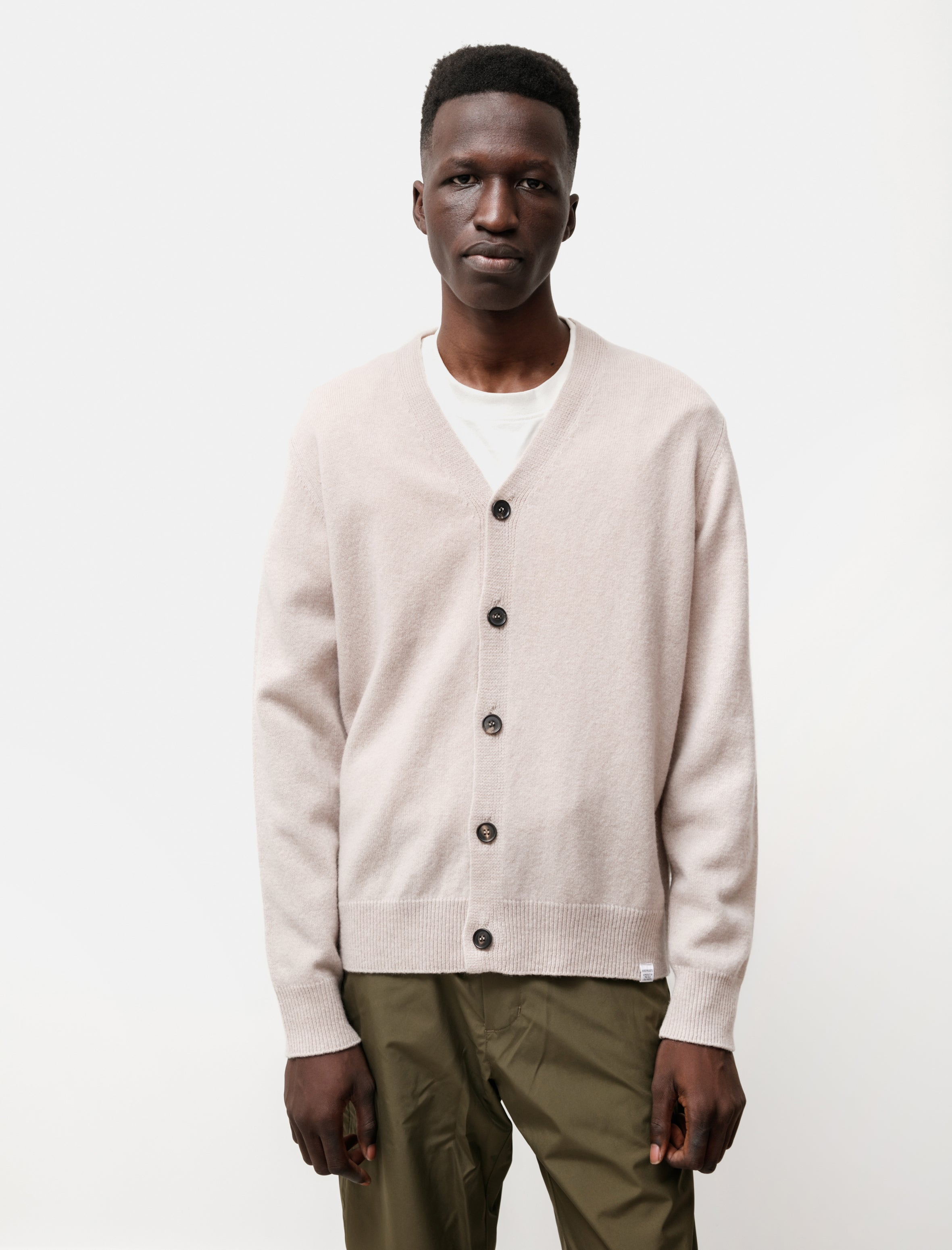 Norse Projects Adam Lambswool Utility Khaki