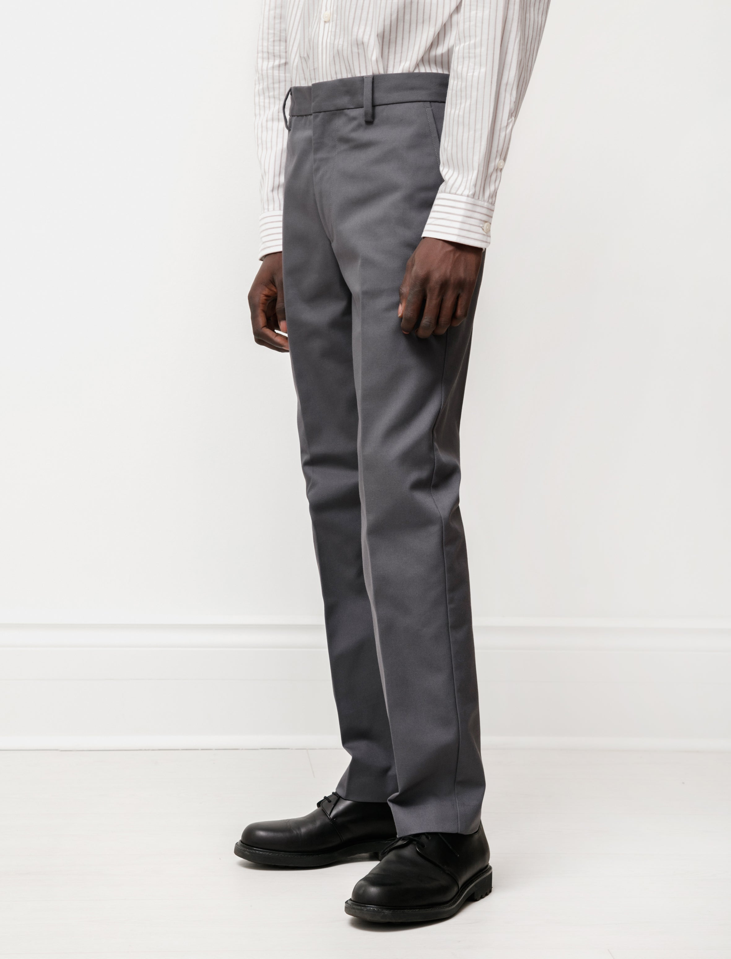 Acne Studios Trousers Cotton Twill Grey