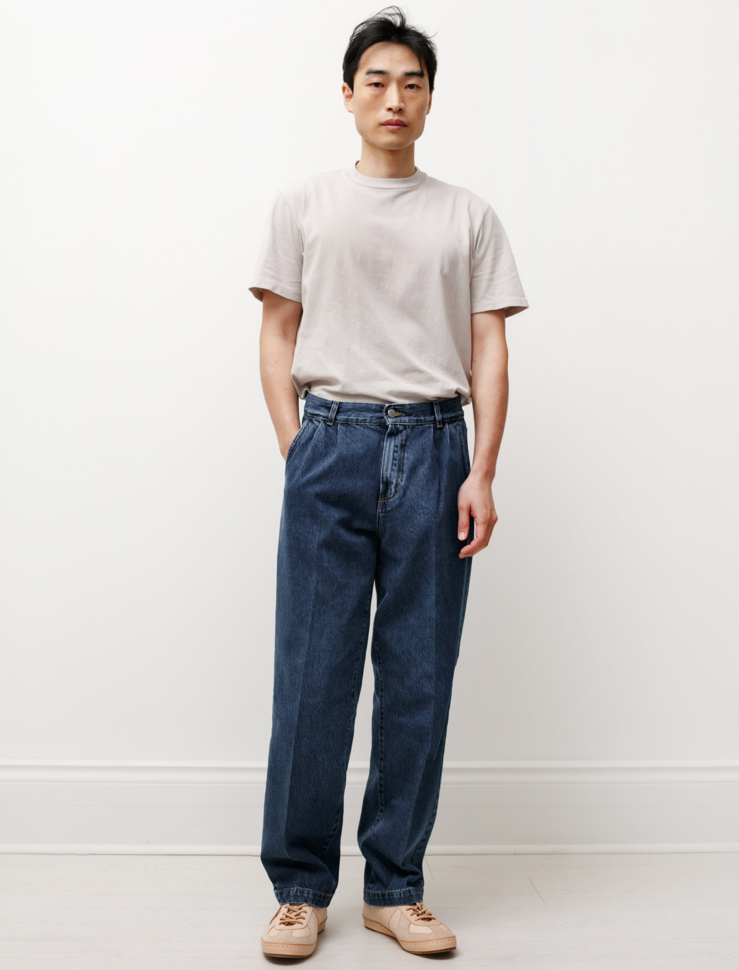 Lemaire Convertible Collar Shirt Chalk