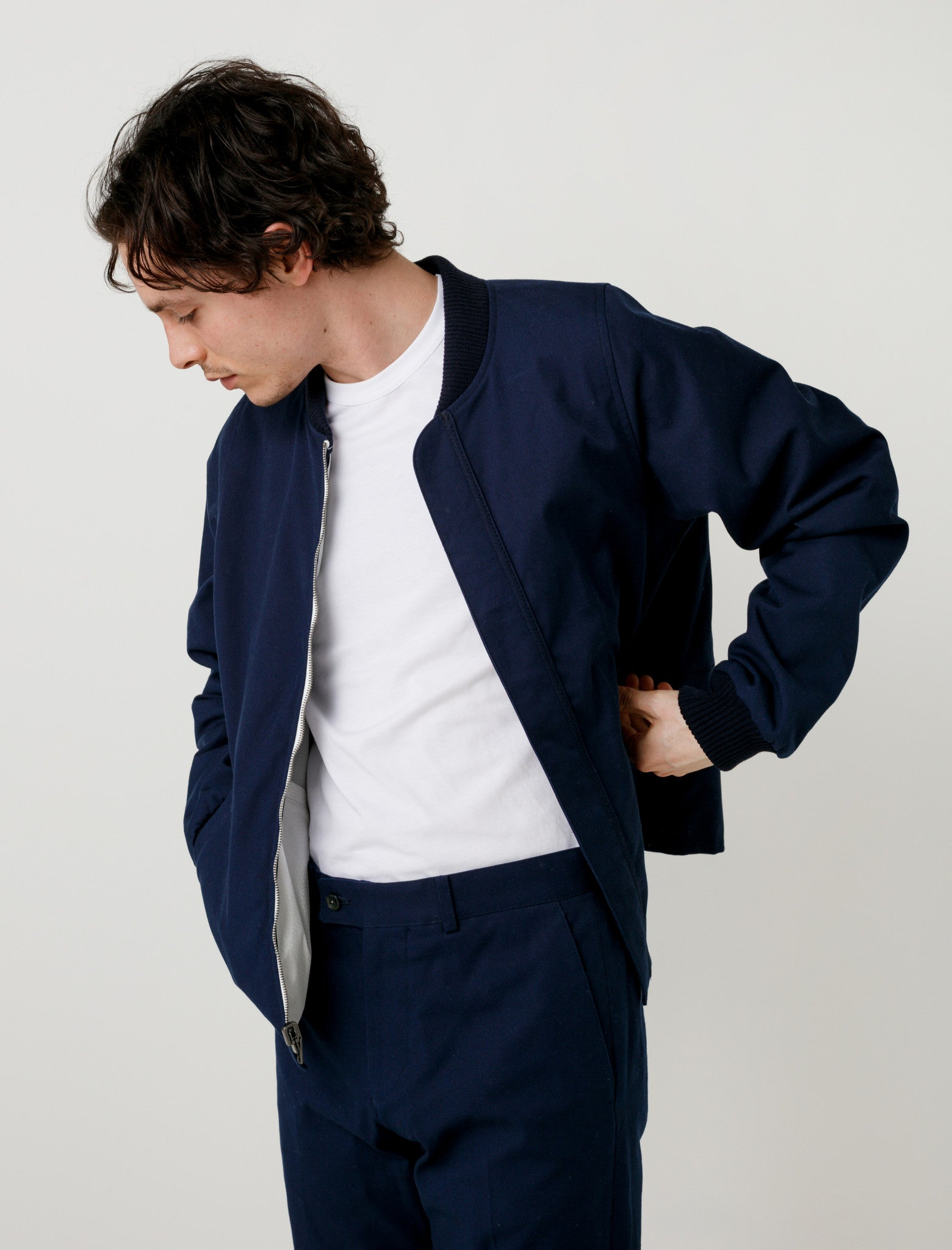 Childs Spray Bomber Navy/Mixed Reversible