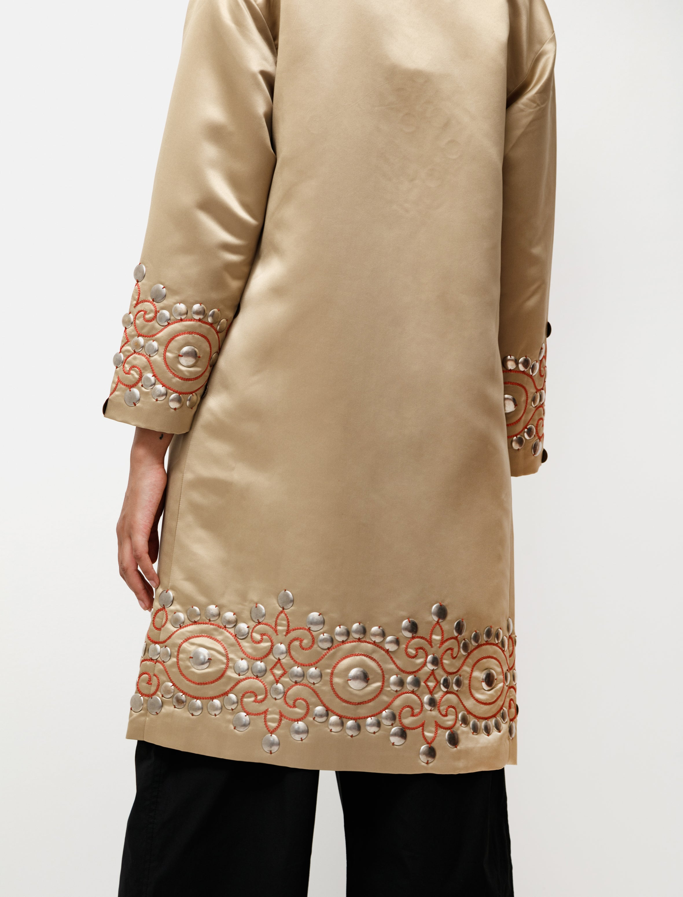 Bode Studded Satin Coat