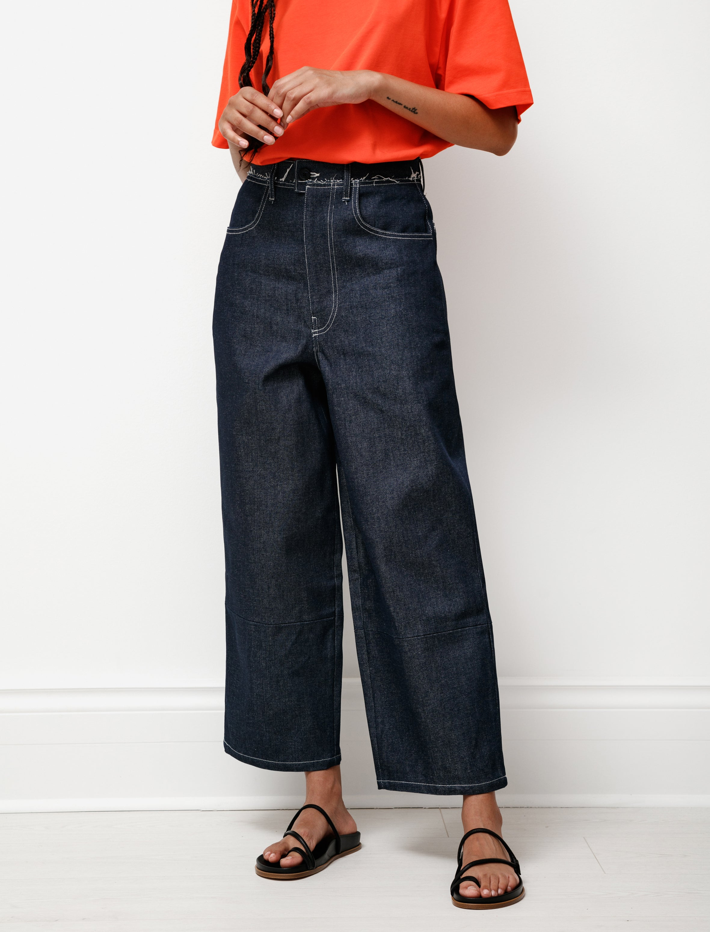 Camiel Fortgens Aubergine Denim Pants Dark Blue