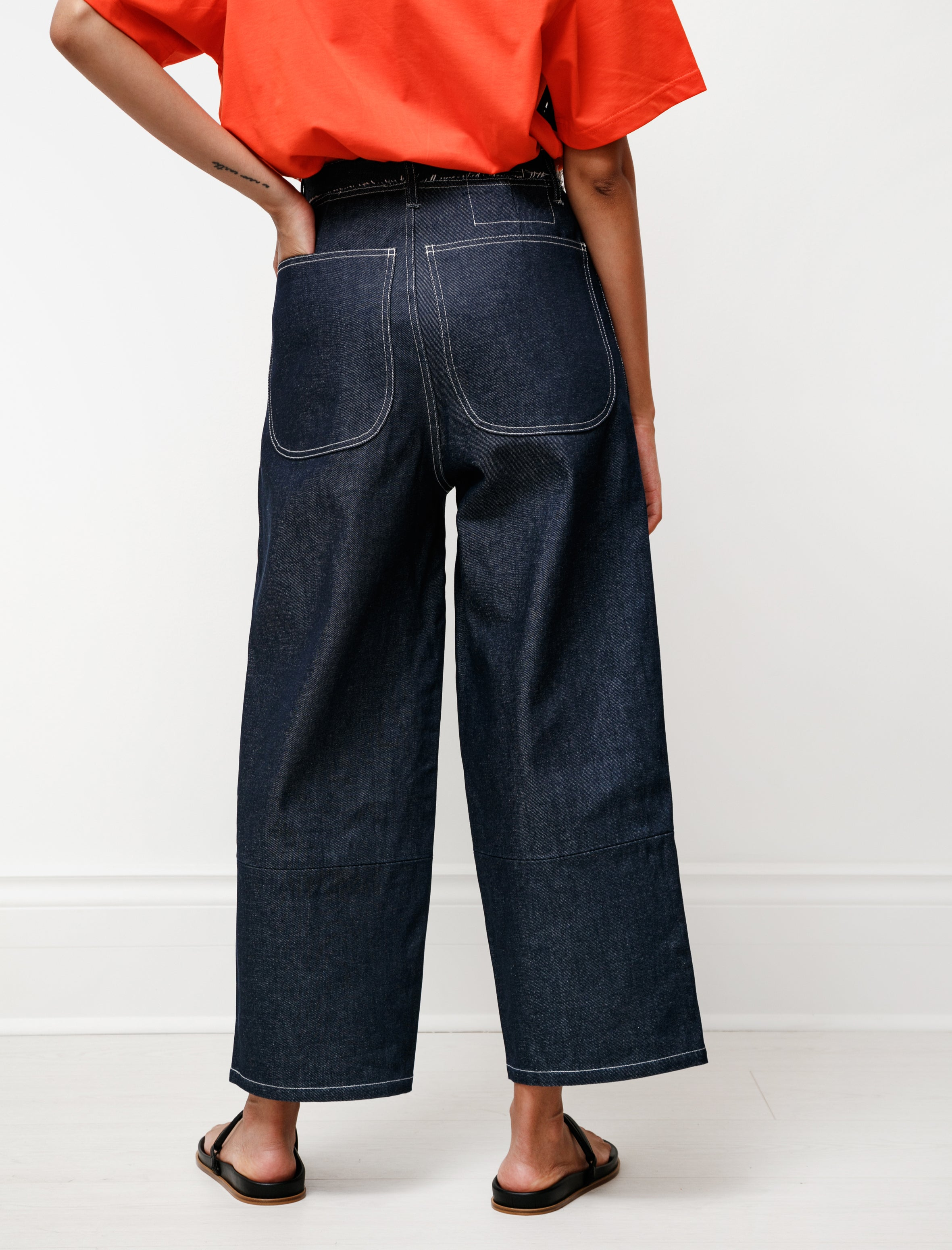 Aubergine Denim Pants Dark Blue