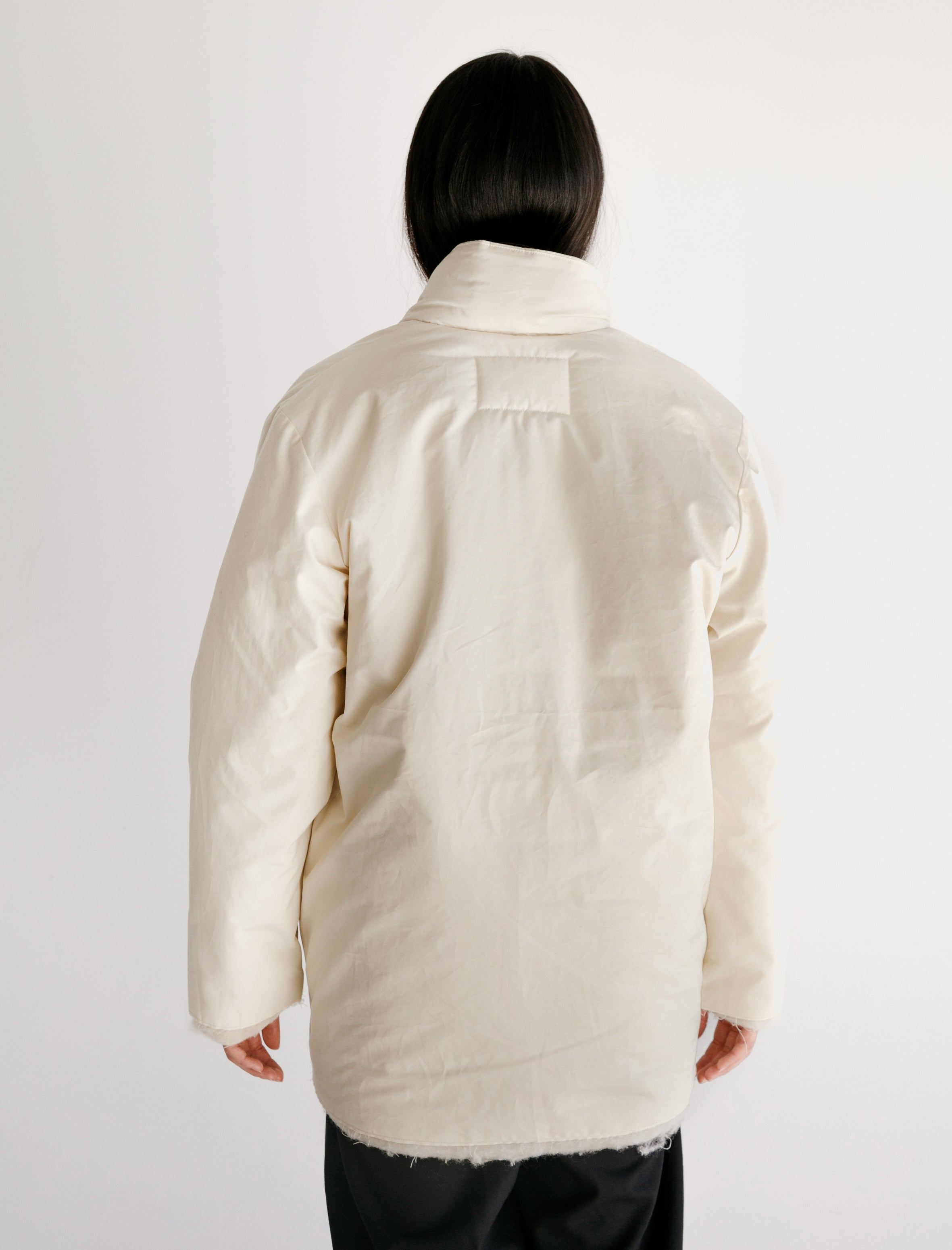 Camiel Fortgens Padded Square Jacket Waxed Cotton White