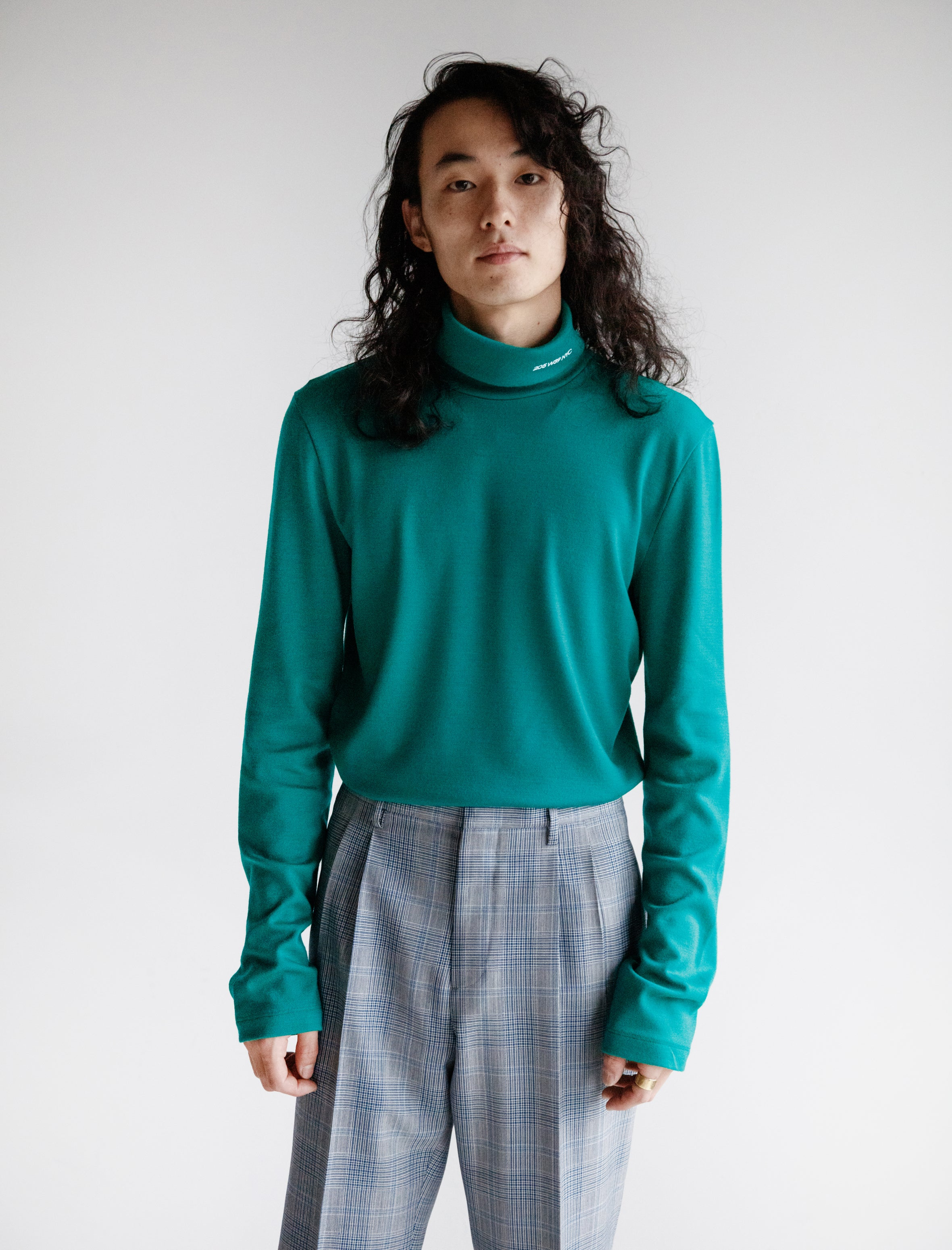 205 Turtleneck Wool Jersey Teal