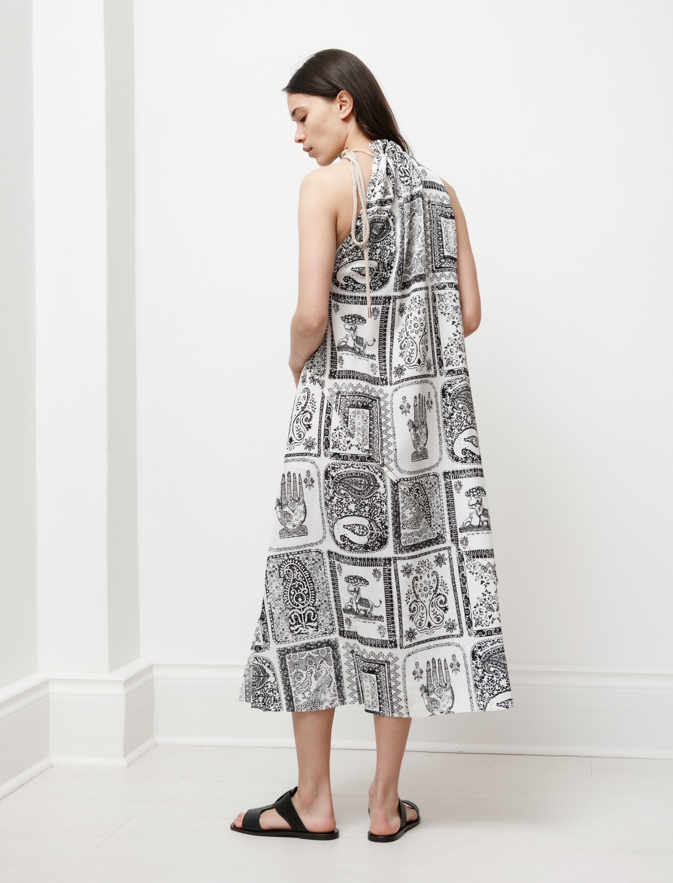 Acne Studios Printed Dress Off White