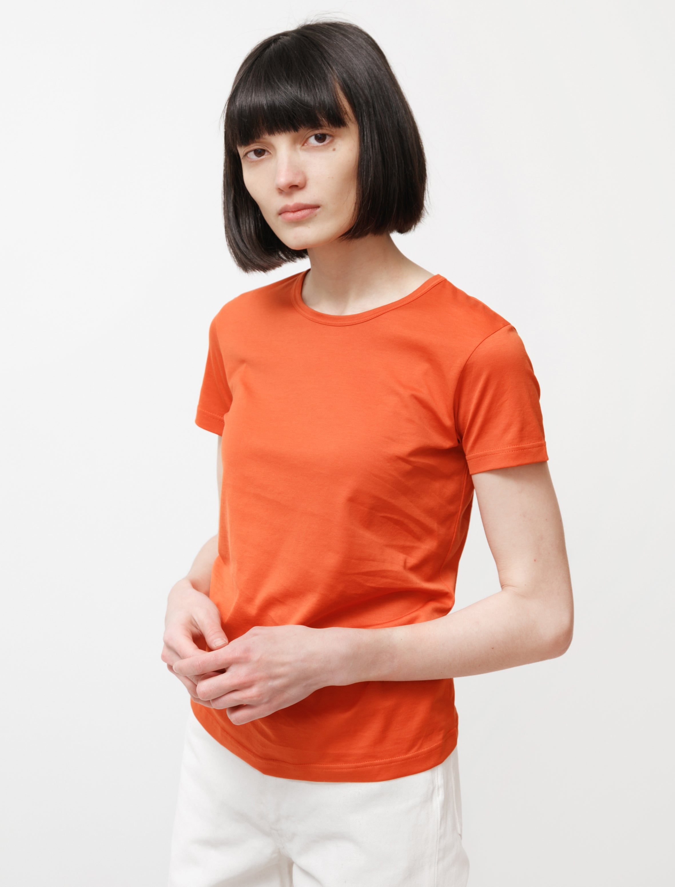 Sunspel Classic Crew Neck T-Shirt Burnt Orange
