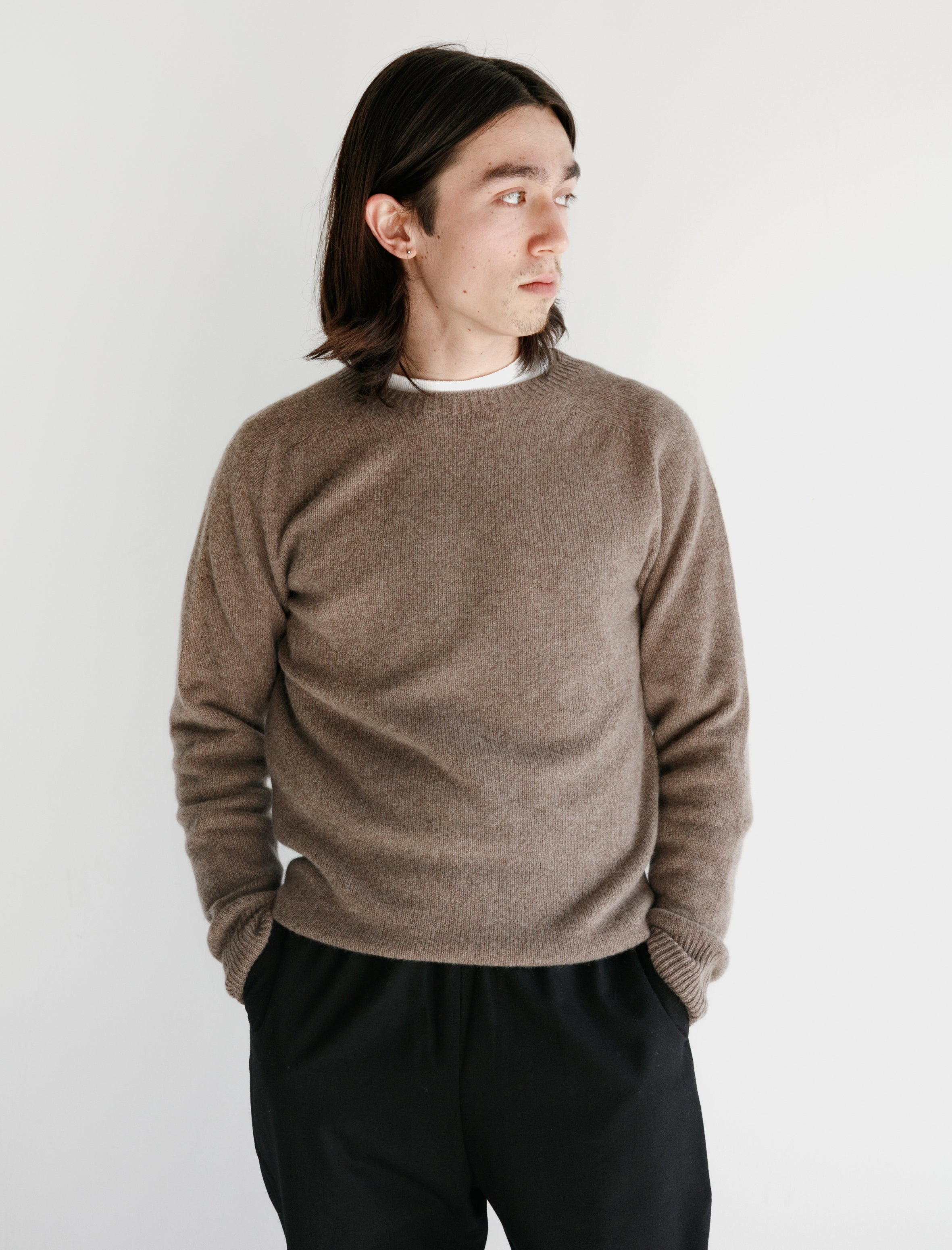 Neighbour Merino Cashmere Sweater Oatmeal