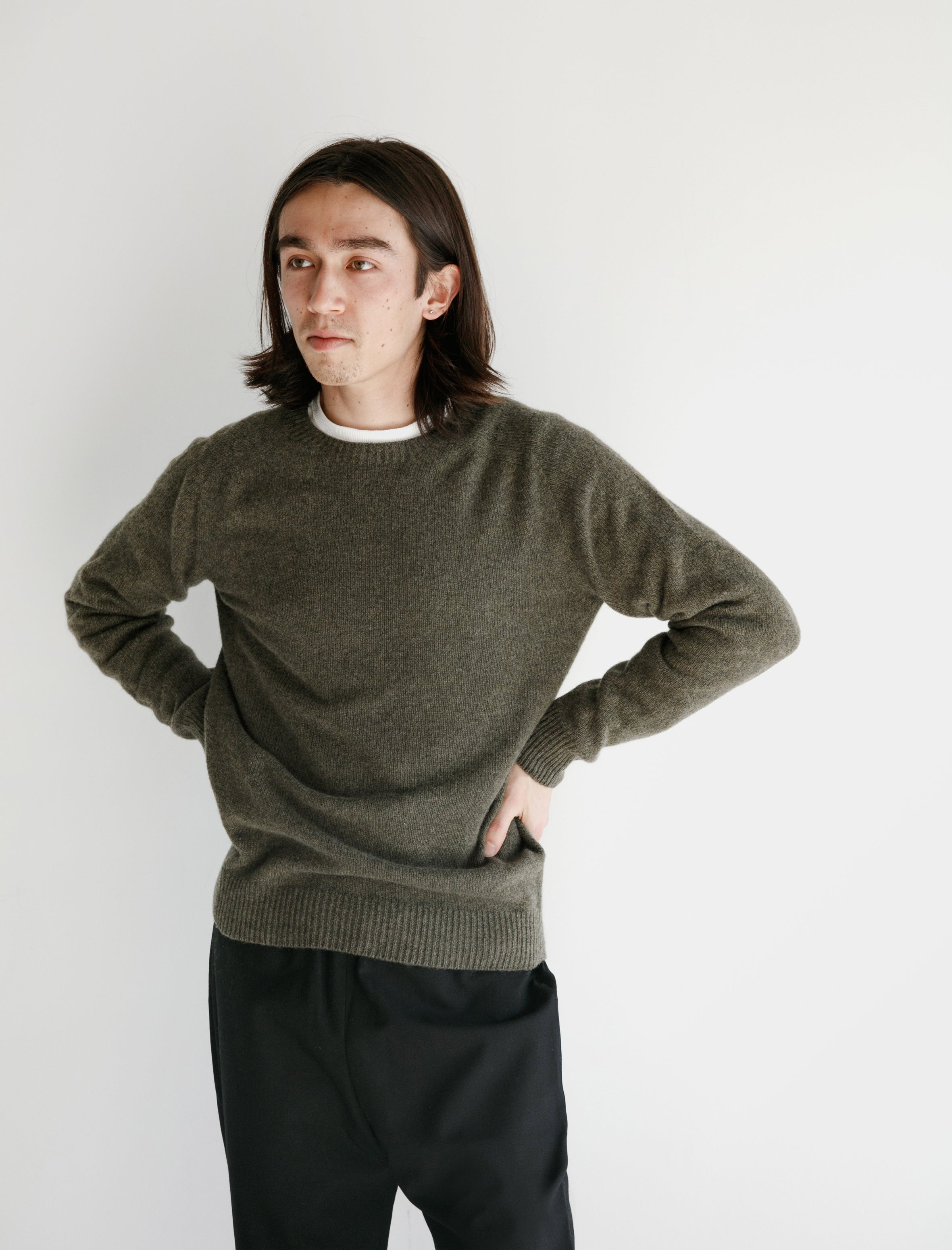 Neighbour Merino Cashmere Sweater Moss