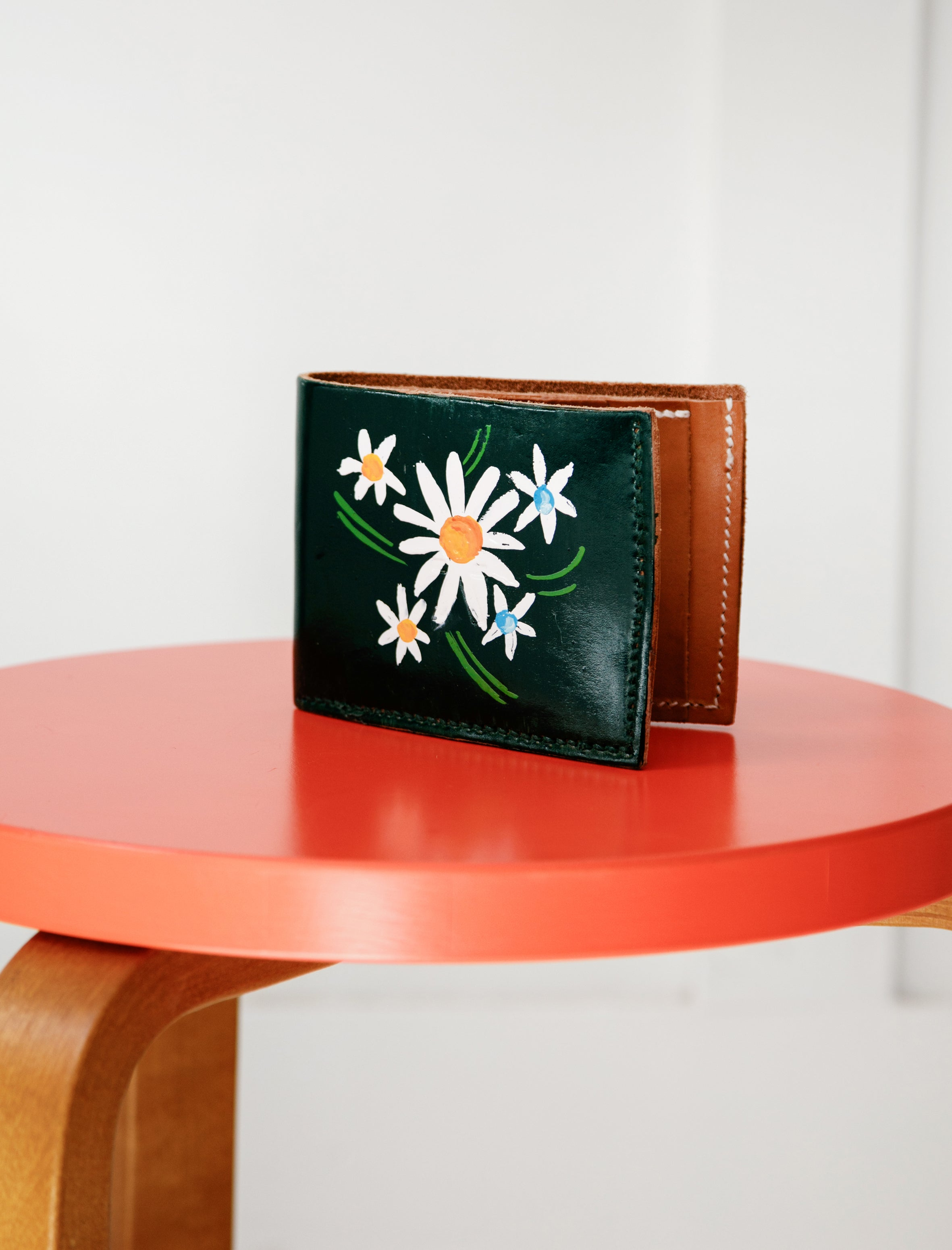 Tender Long Wallet Hand Painted Wattle Leather