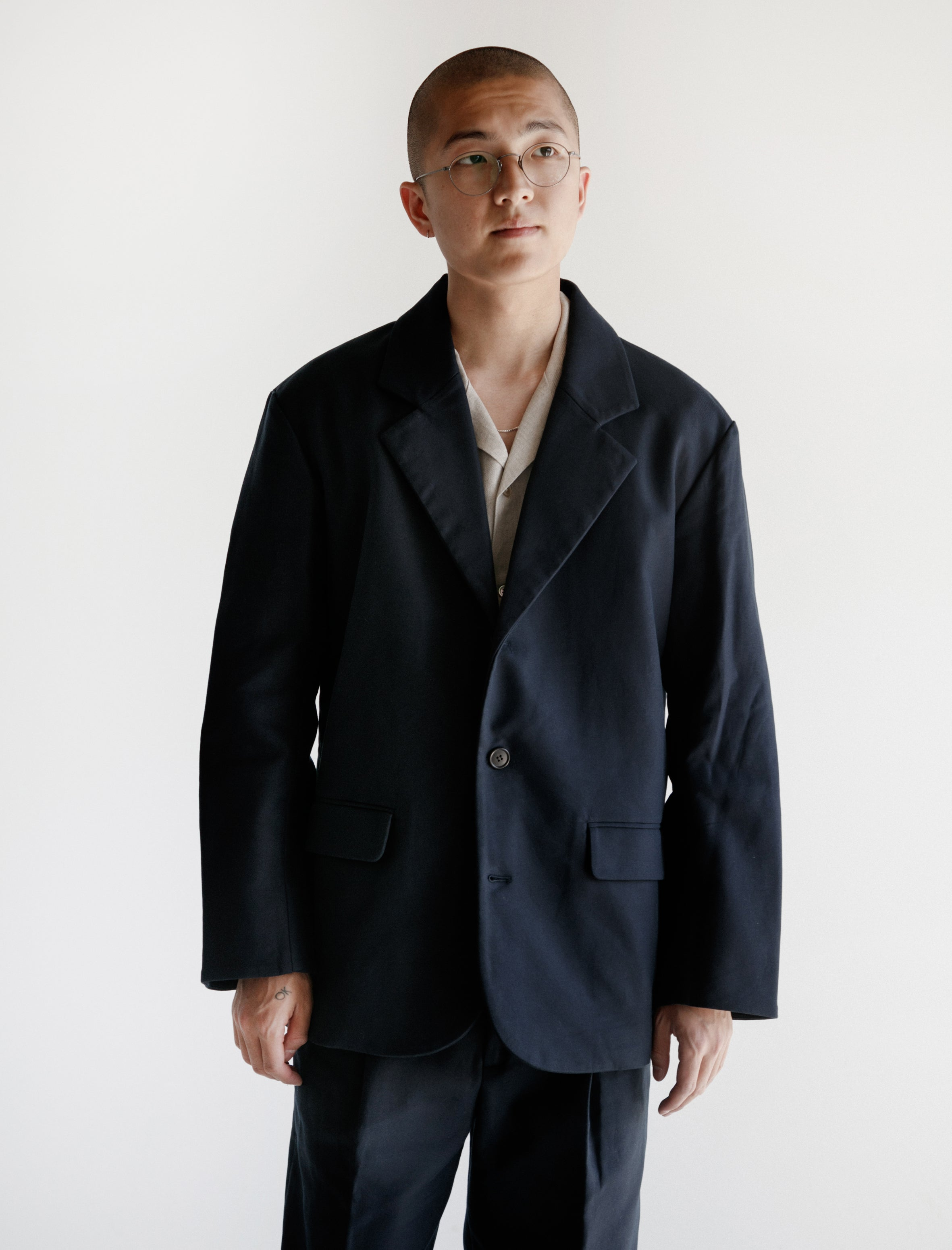 Japanese Double Cotton Jacket Navy