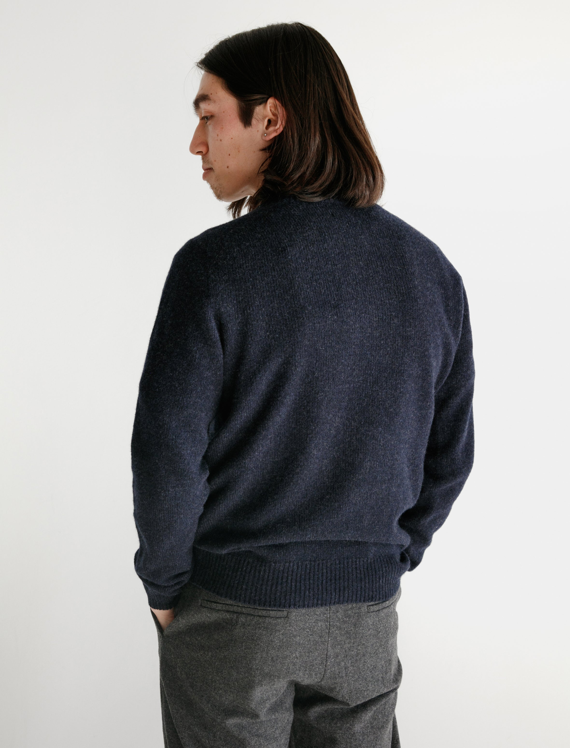 Neighbour Merino Cashmere Sweater Navy
