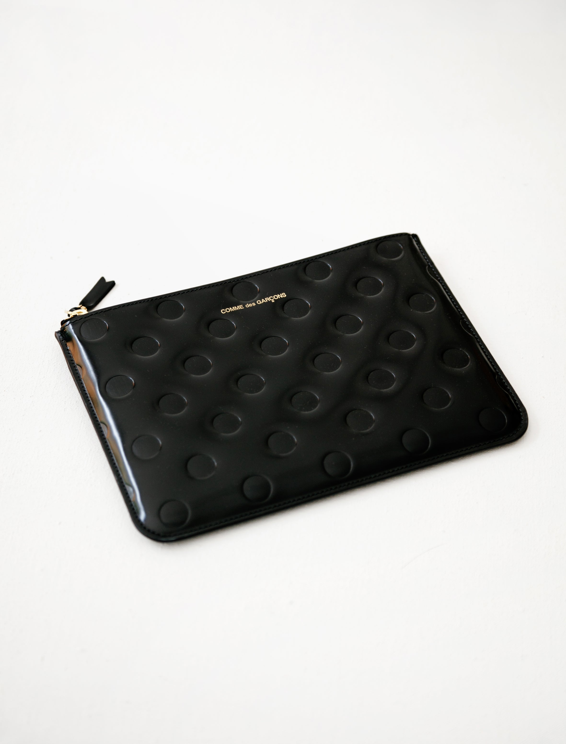 Comme Des Garcons Polka Dots Embossed Wallet Black SA5100NE