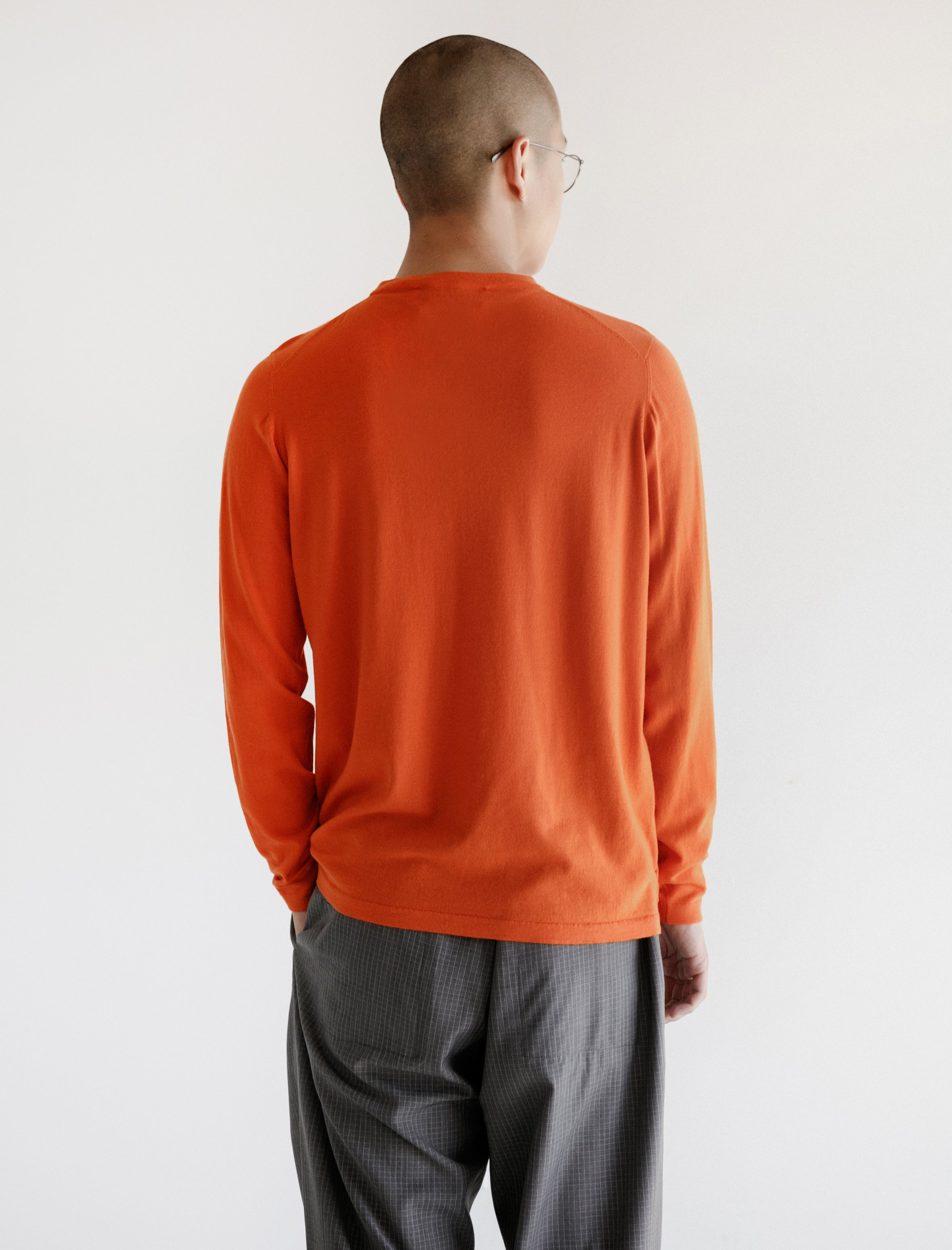 Merino Knit Tee Safety Orange