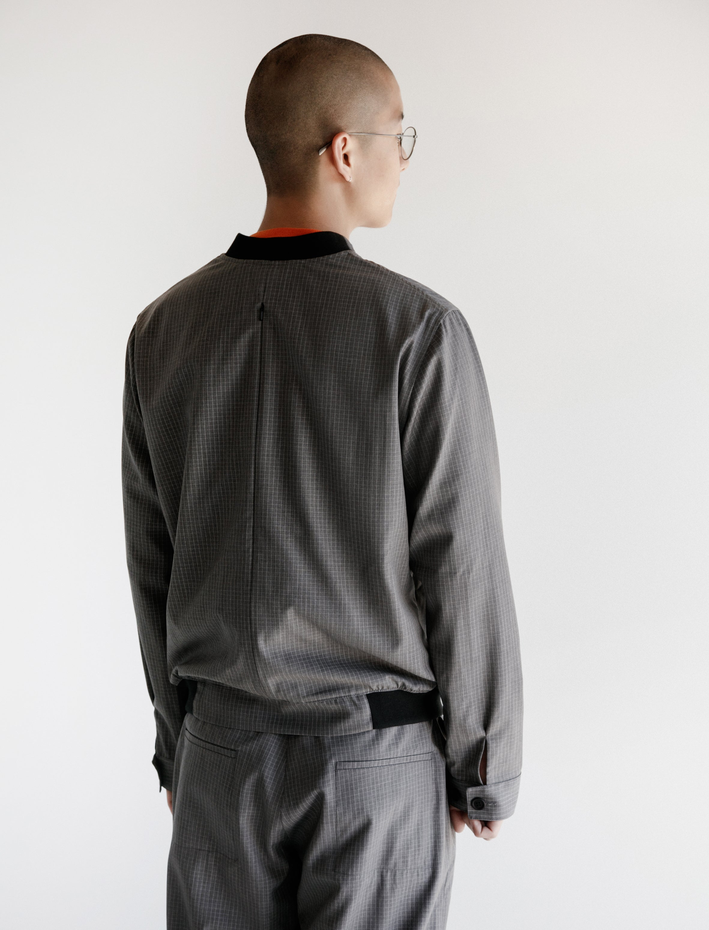 Vent Bomber Graph Grey Wool