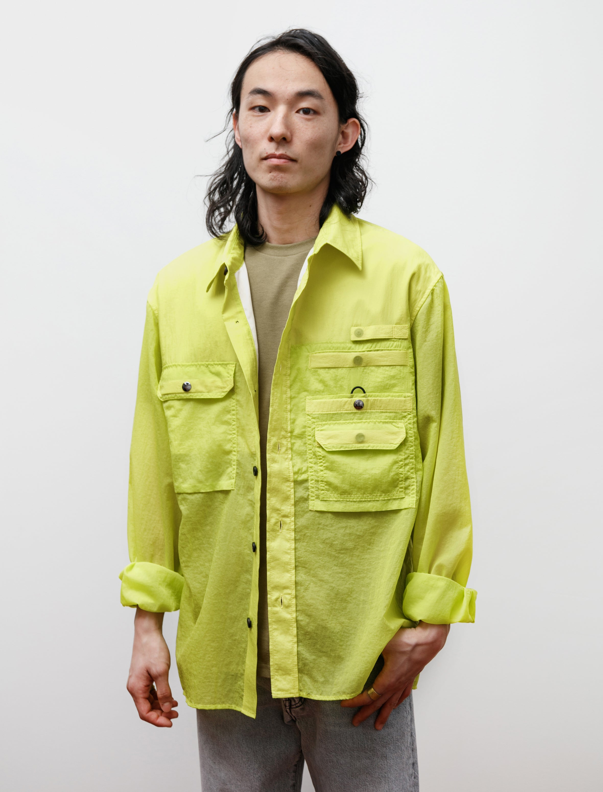 Acne Studios Orallo Cr Nylon Sharp Yellow