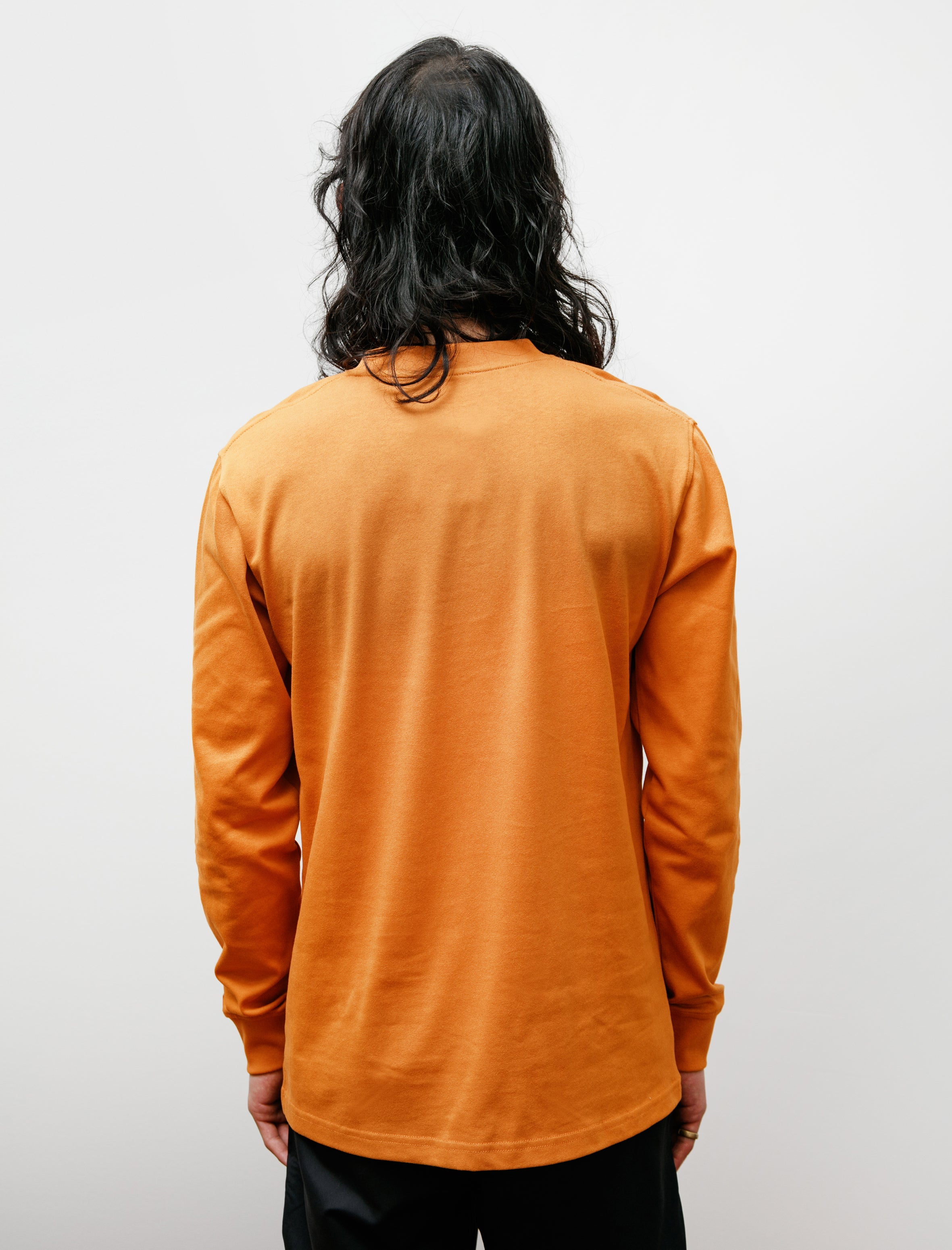 Norse Projects Johannes Pocket LS Cadmium Orange