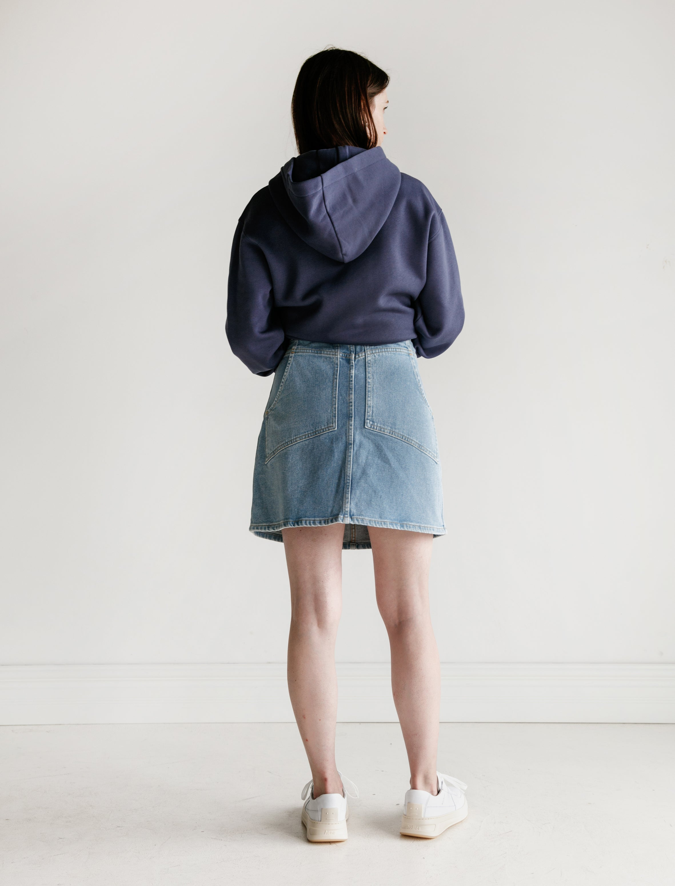 Eckhaus Latta Denim Skirt True Blue