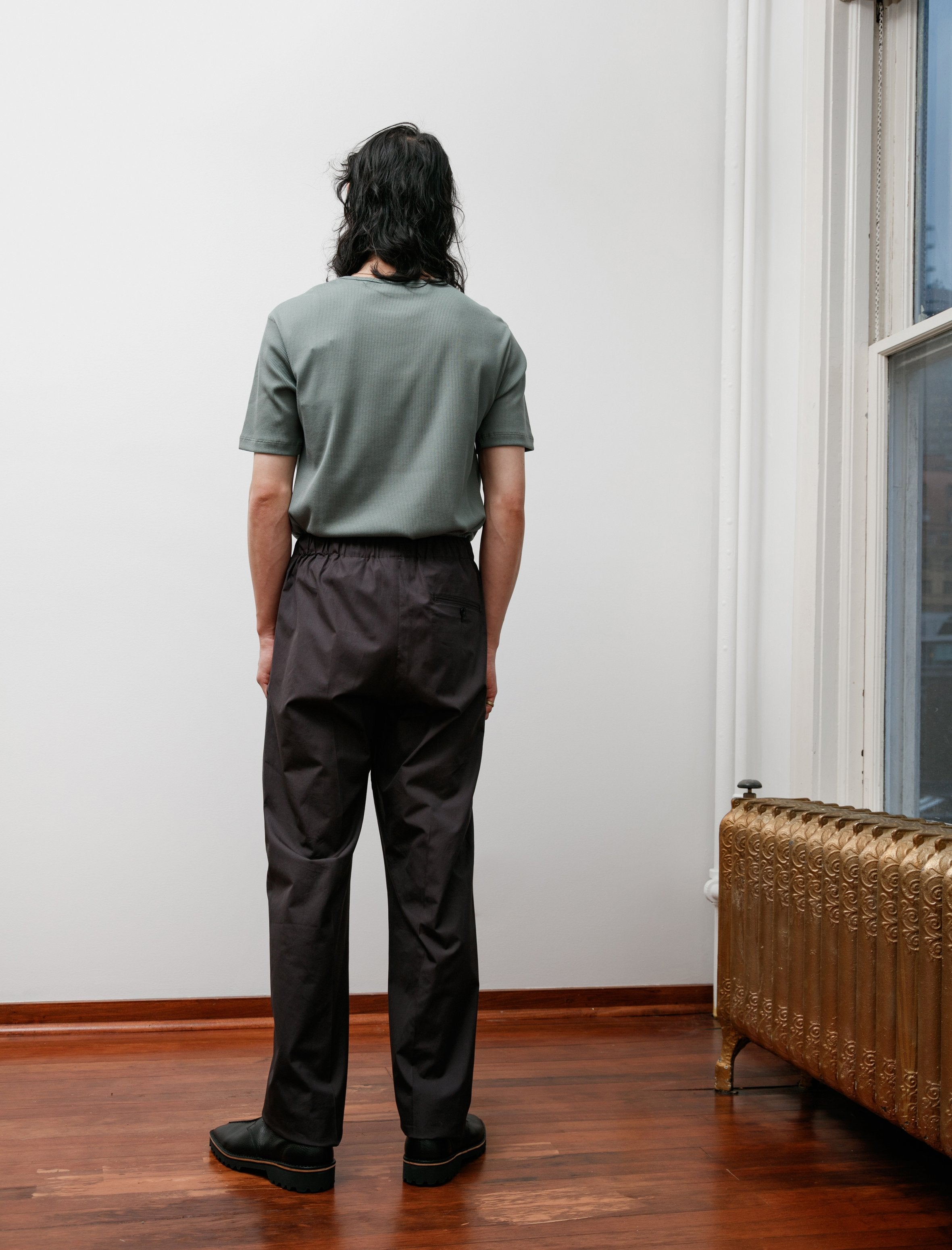 Lemaire Pleated Drawstring Pants Carbon
