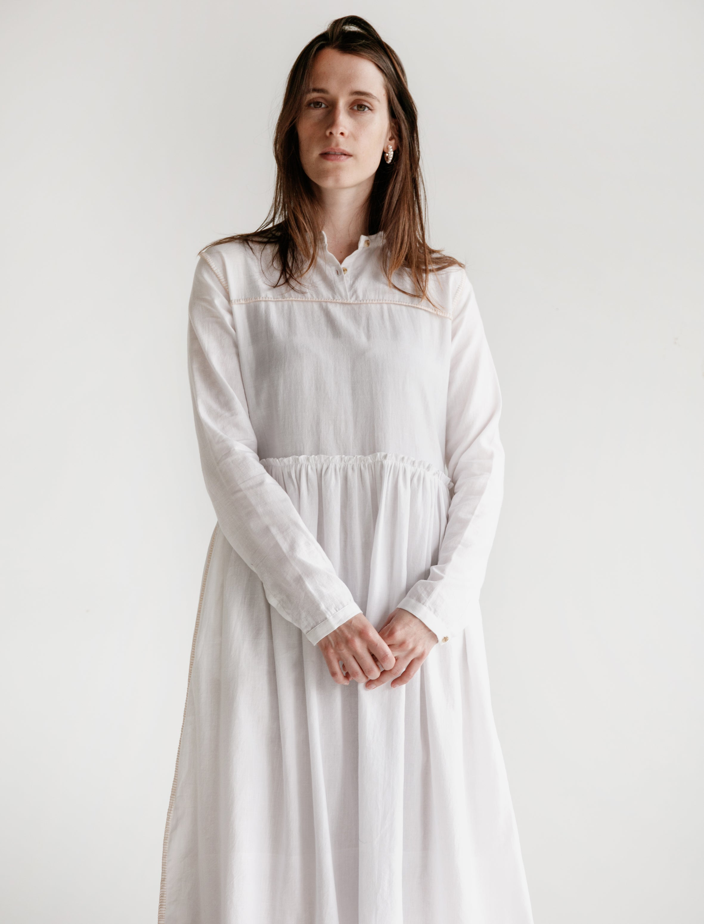 Untitled Co. Phyphy Double Thread Khadi Dress White