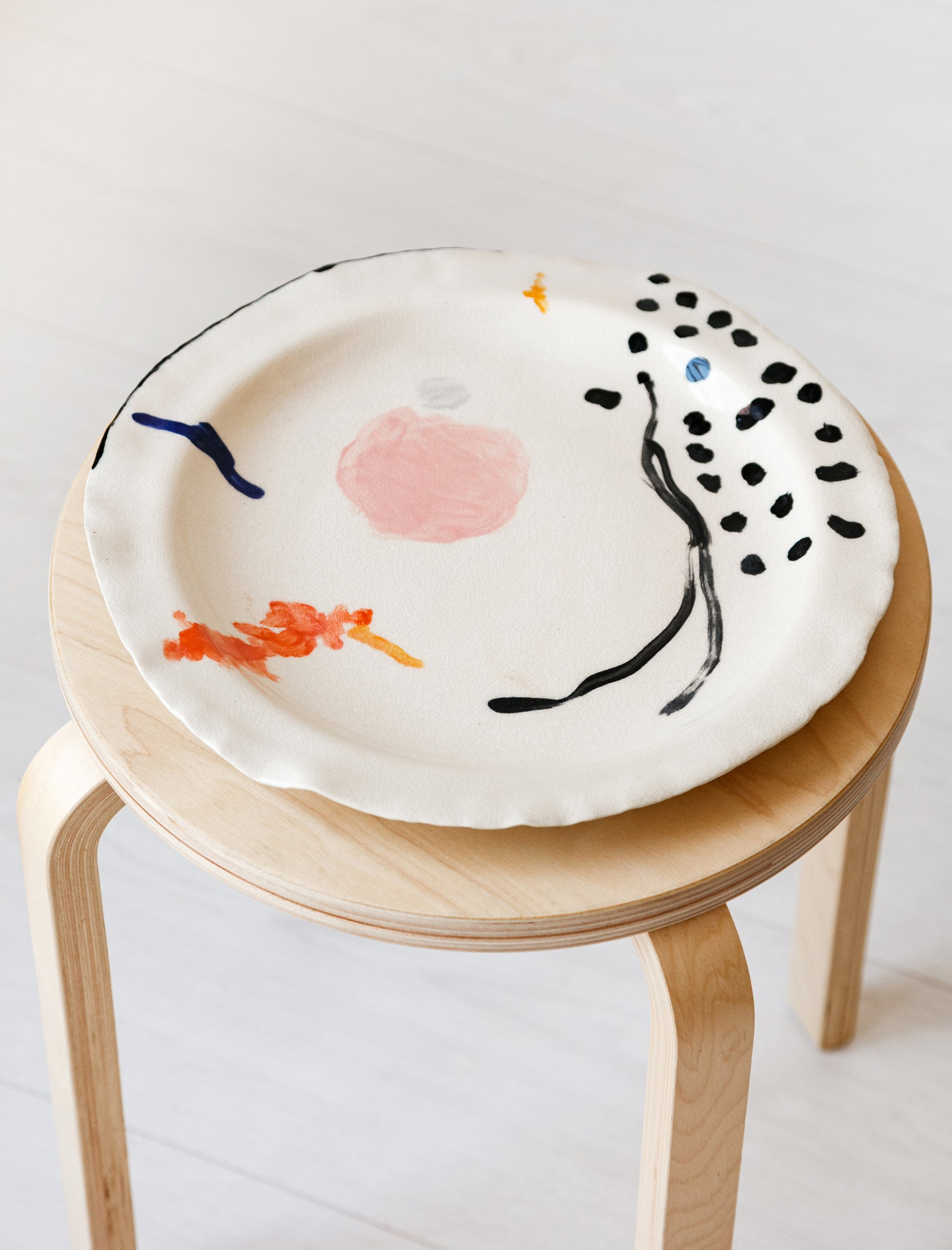 Nathalee Paolinelli Abstract Paint Platter