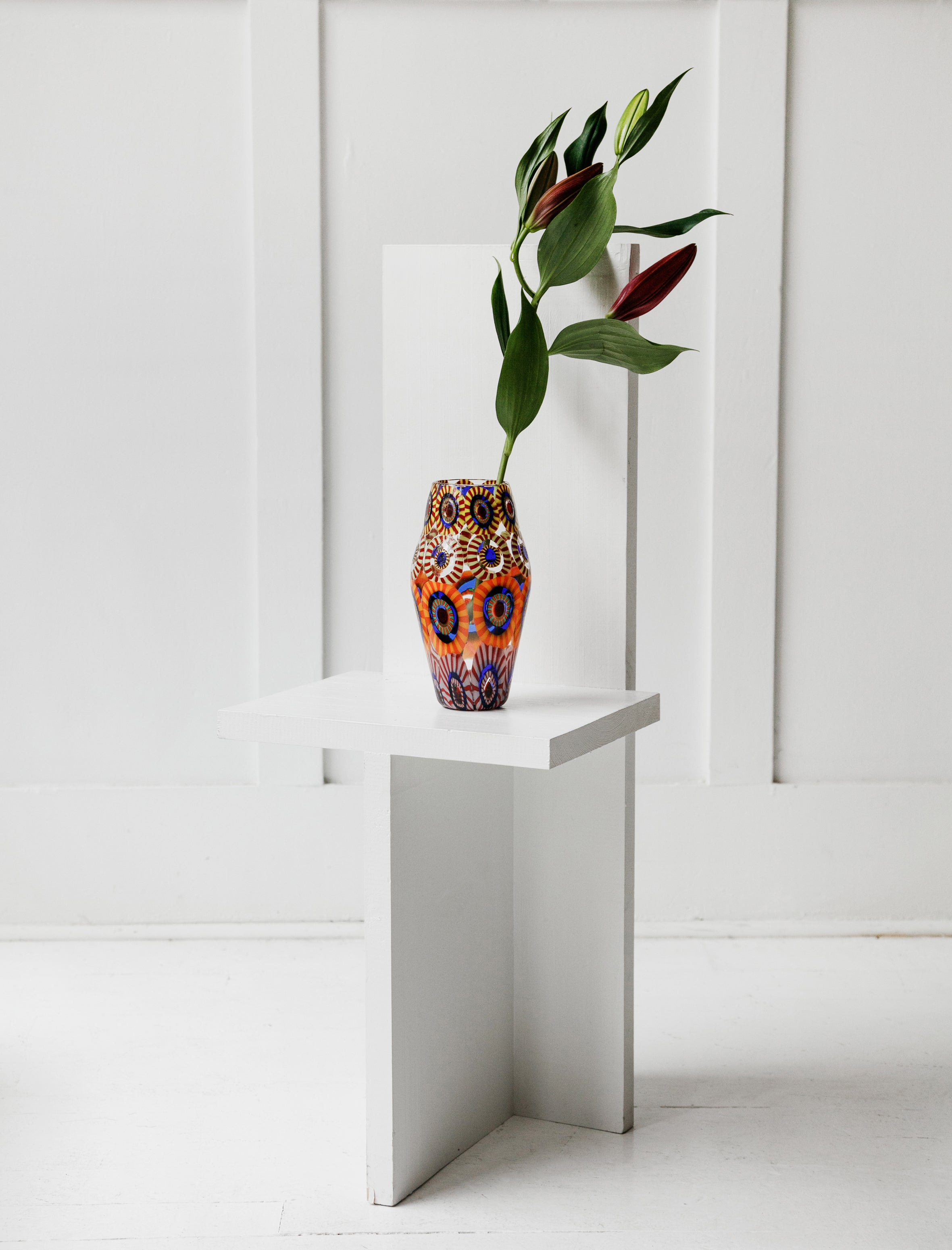 Found by Neighbour Murrine Eye Tall Vase Tapered
