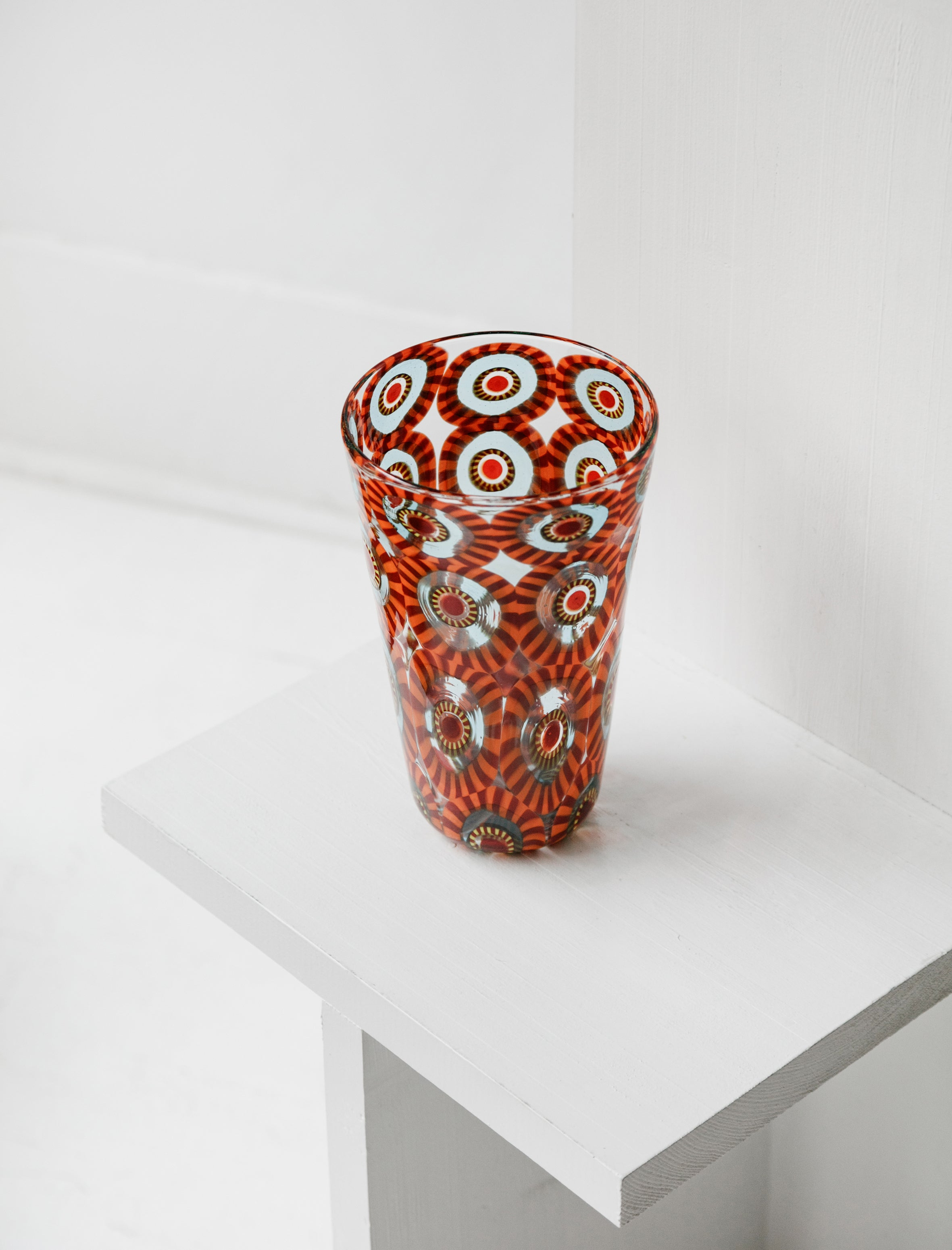 Found by Neighbour Murrine Eye Tall Vase Orange